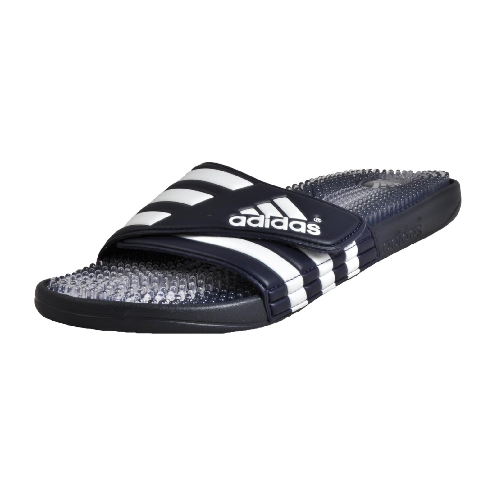 824ec8044135 Details about Adidas Santiossage Mens Slides Beach Flip Flops Shower Sandals  Navy Big Sizes