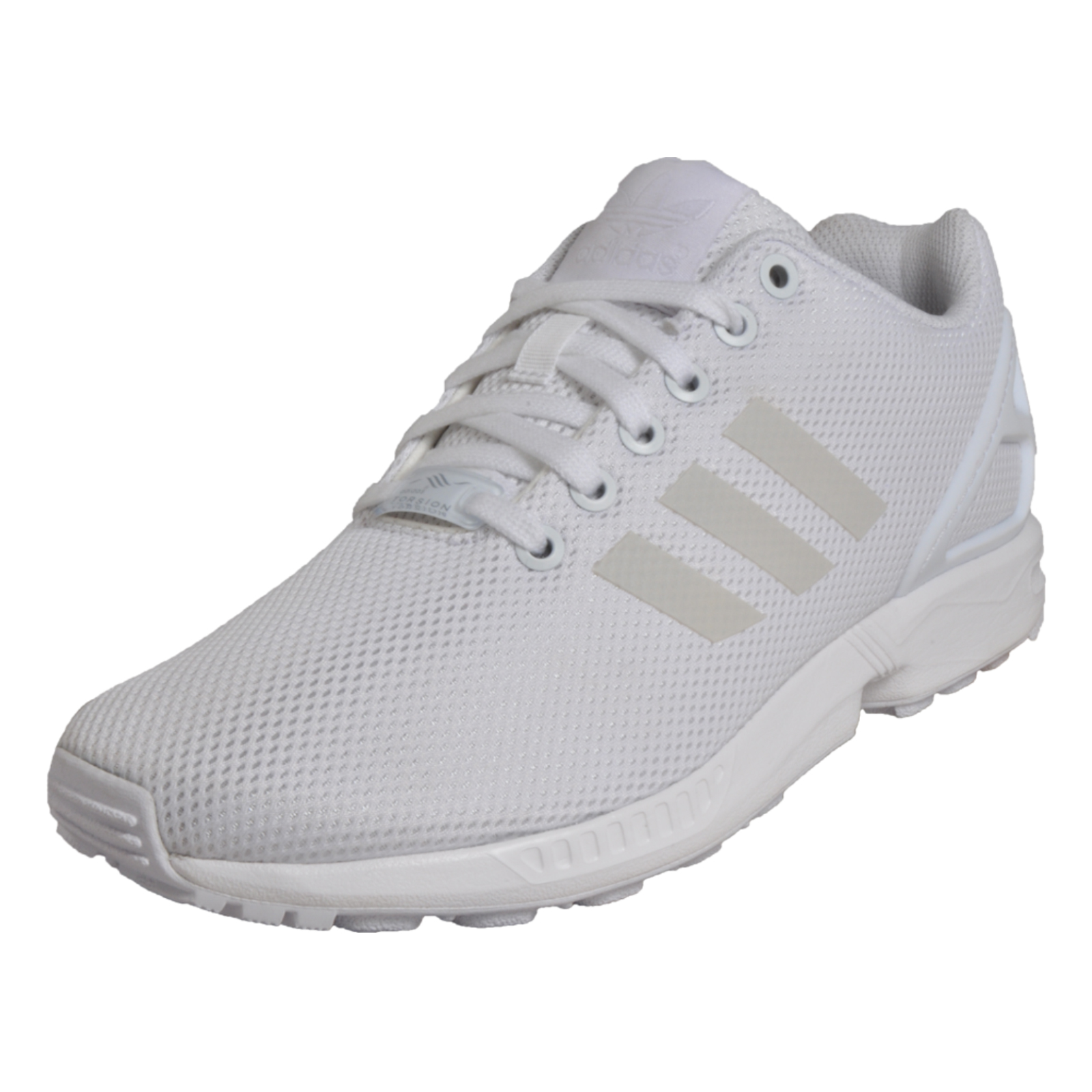 e5e3cc7aa9bc Details about Adidas Originals ZX Flux Uni Classic Casual Retro Trainers  White UK 4 Only