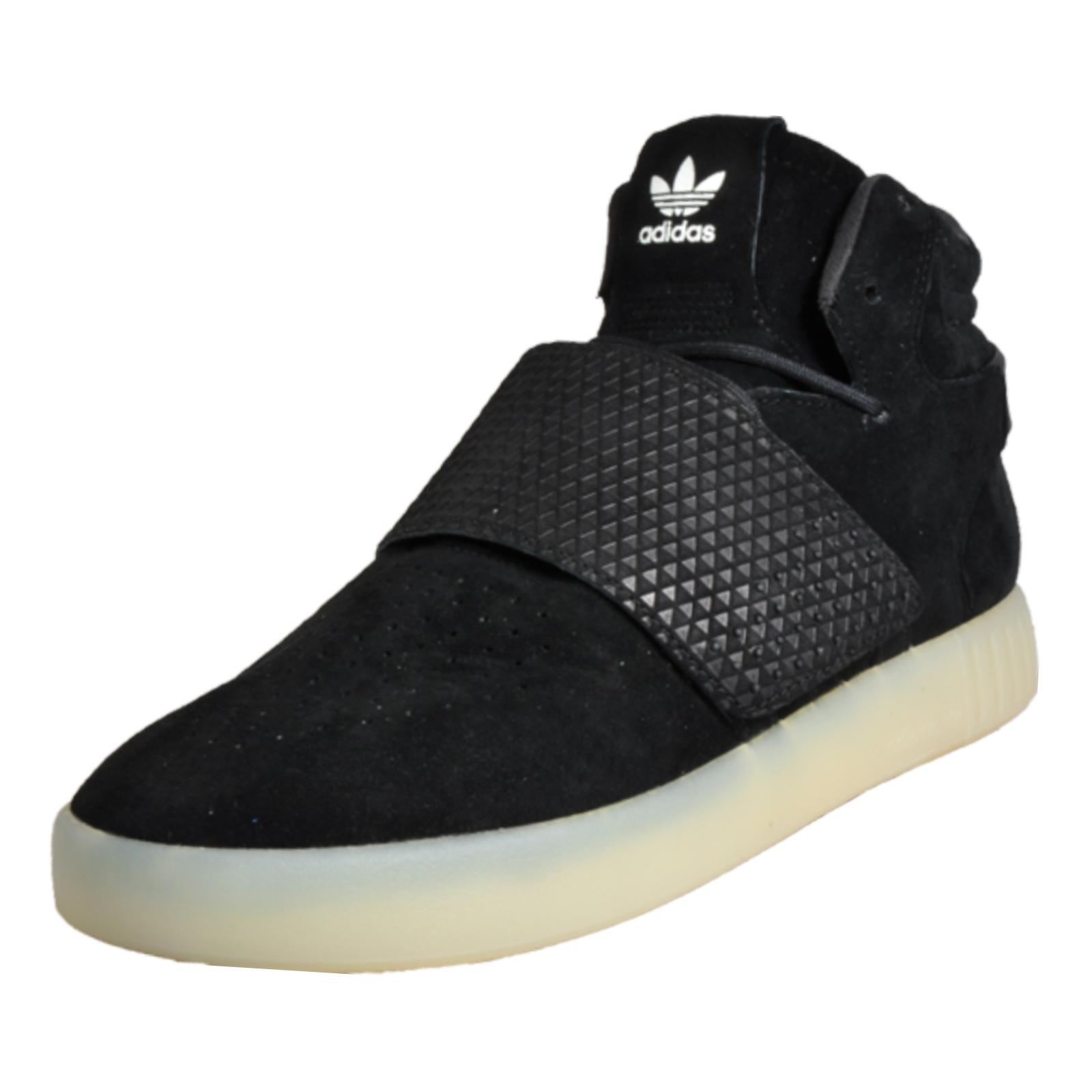 bf57628f27af69 Details about Adidas Originals Tubular Invader Strap Men s Suede Leather Mid  Top Trainers