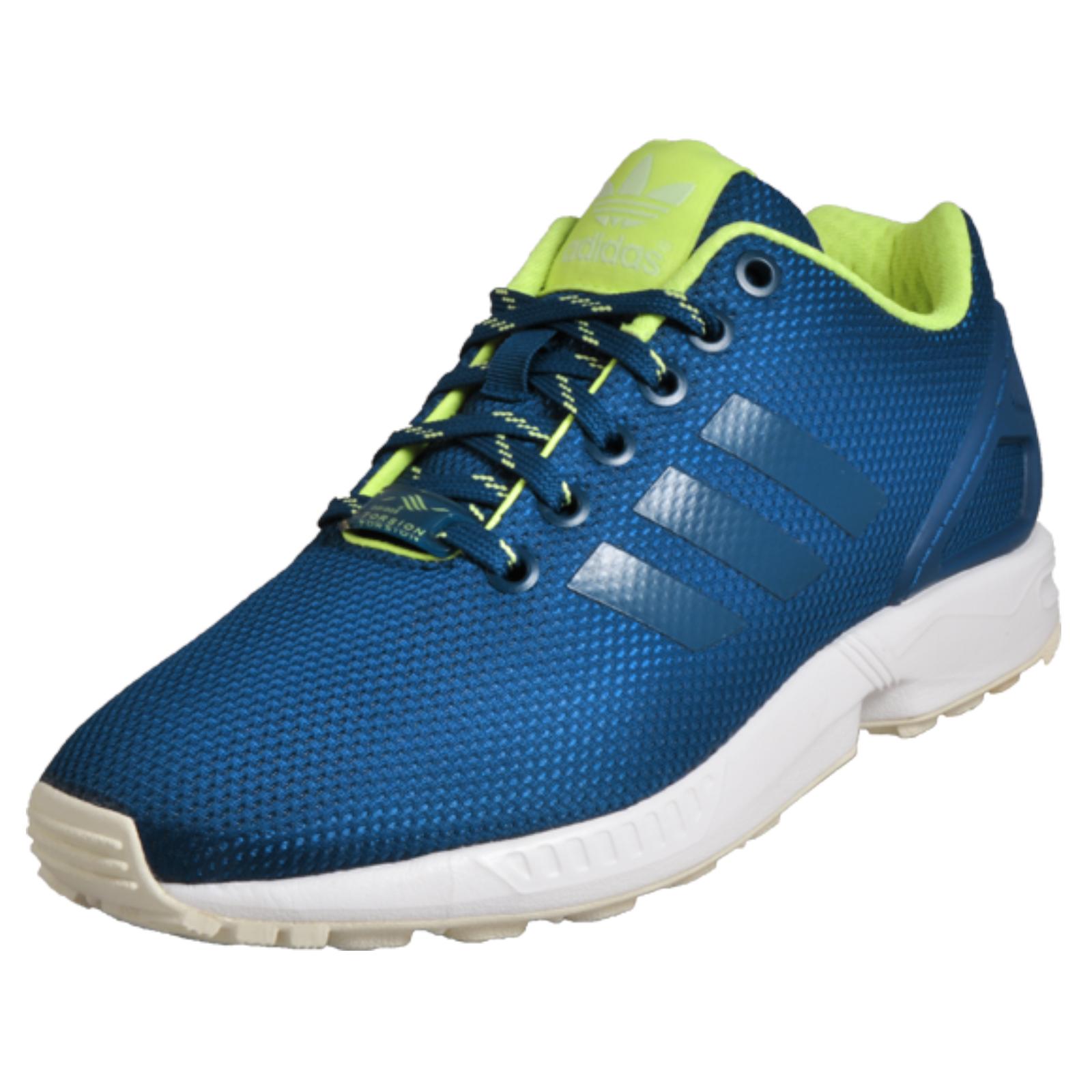 timeless design bc6ef 1dffa Details about Adidas Originals ZX Flux Unisex Classic Casual Retro Trainers  Blue