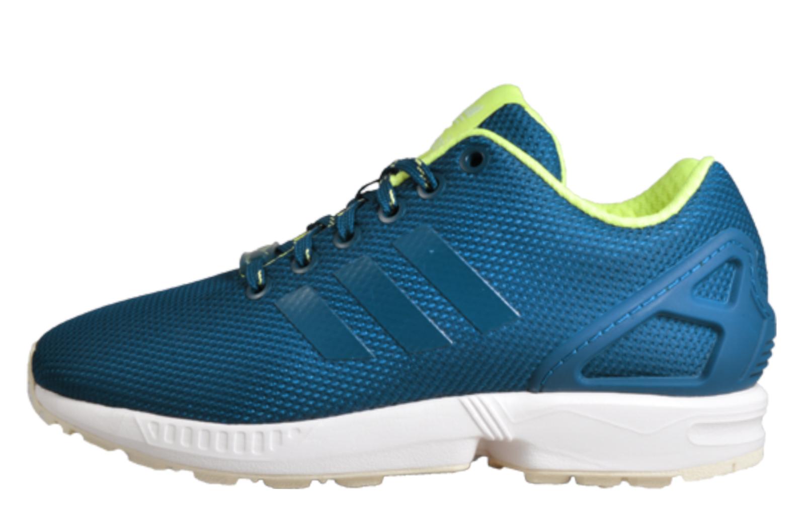 finest selection 4950c 63e28 Adidas Originals ZX Flux Unisex Classic Casual Retro Trainers Blue