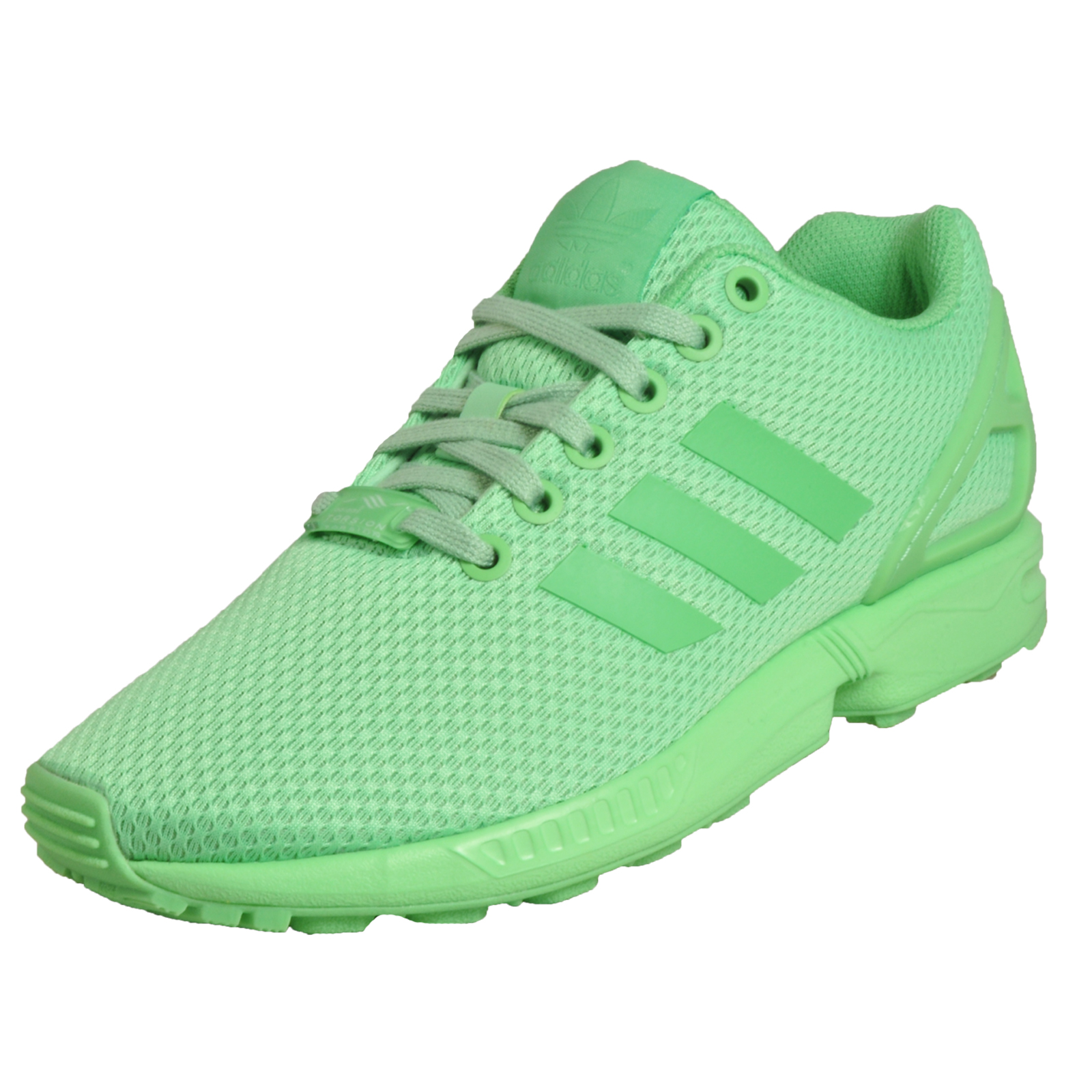 9c0e3fdaf Details about Adidas Originals ZX Flux Women s Classic Casual Gym Fitness  Trainers Green