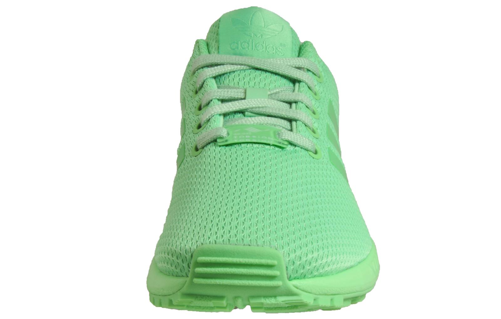 Details zu Adidas Originals ZX Flux Women's Classic Casual Gym Fitness Trainers Green