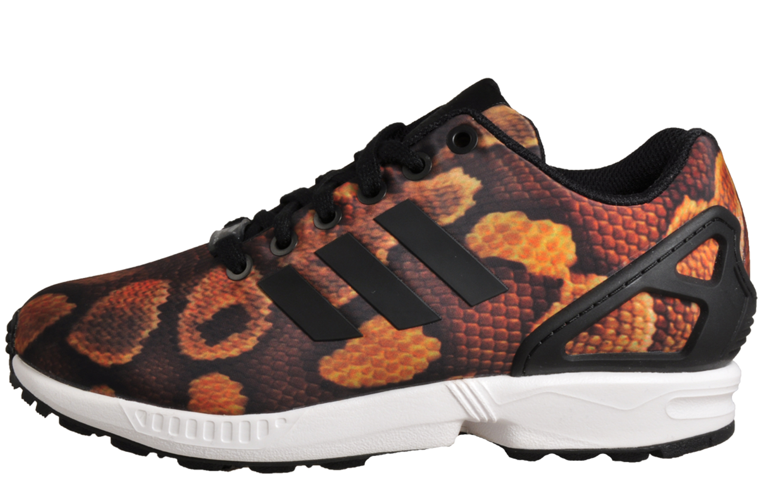 ed5ef1899 Adidas Originals ZX Flux Women s Girls Classic Trainers Snake Leopard Print