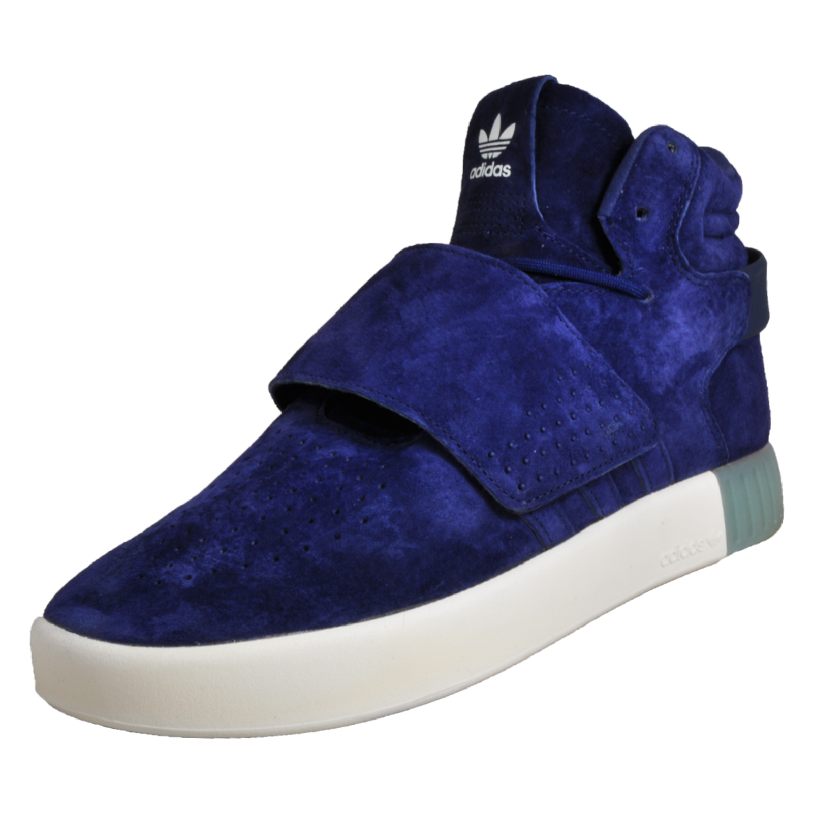 5af9a3e44542f0 Adidas Originals Tubular Invader Men s Suede Leather Mid Top Trainers Blue