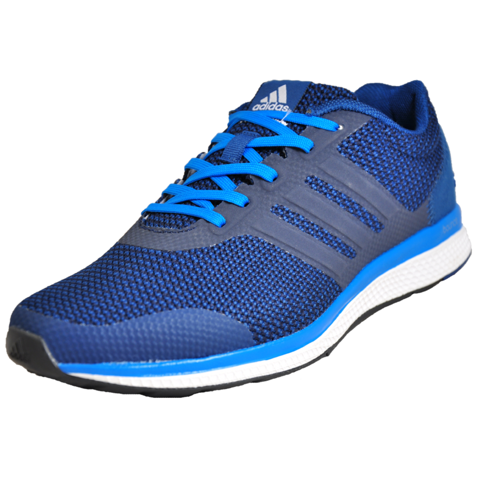separation shoes 7e0bb 8baf7 Details about Adidas Lightster Bounce Mens Running Shoes Fitness Gym  Trainers Blue