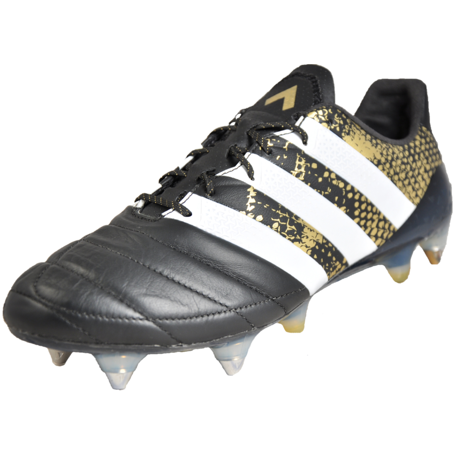 wholesale dealer 0beda 2bf05 Details about Adidas Ace 16.1 SG Men's Pro Leather Football Boots Black