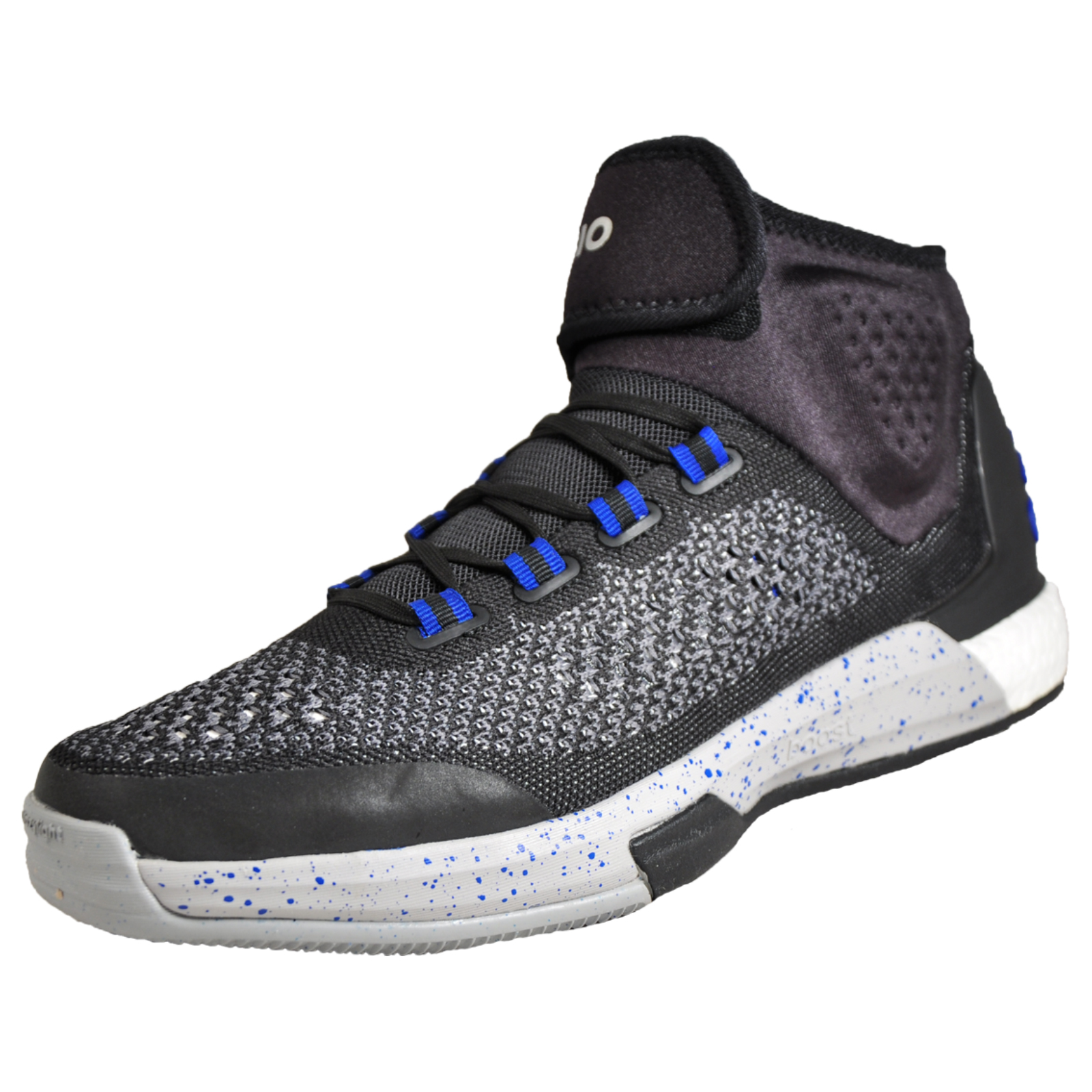 4448bfa442fa6 Details about Adidas Crazylight Boost Primeknit Fitness Basketball Shoes  Boot Trainers Black