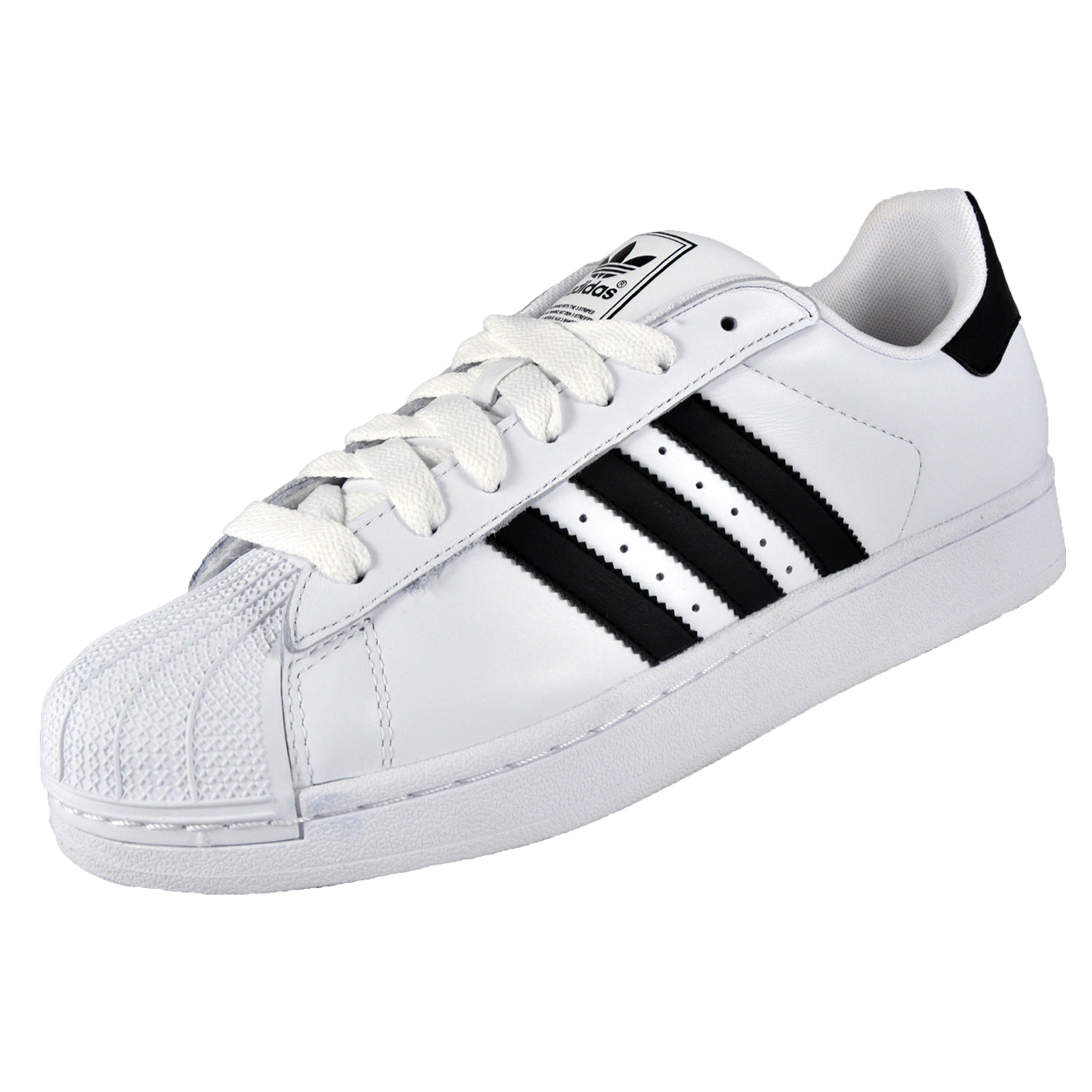 sports shoes 45f1e 1744a Adidas Superstar 2 Mens Classic Retro Trainers White   Black