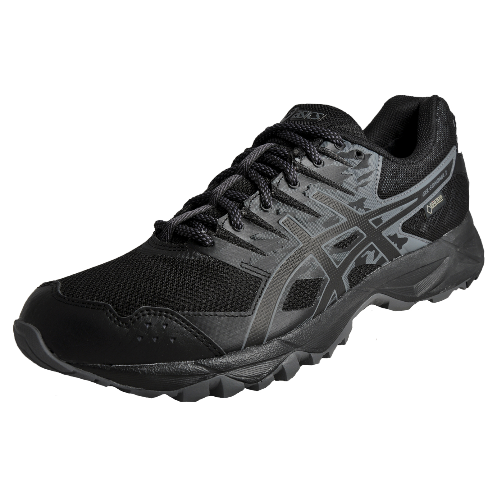 4e6676ea4bac Details about Asics Gel Sonoma 3 GTX Gore Tex Mens All Terrain Outdoor Trail  Running Shoes Bla