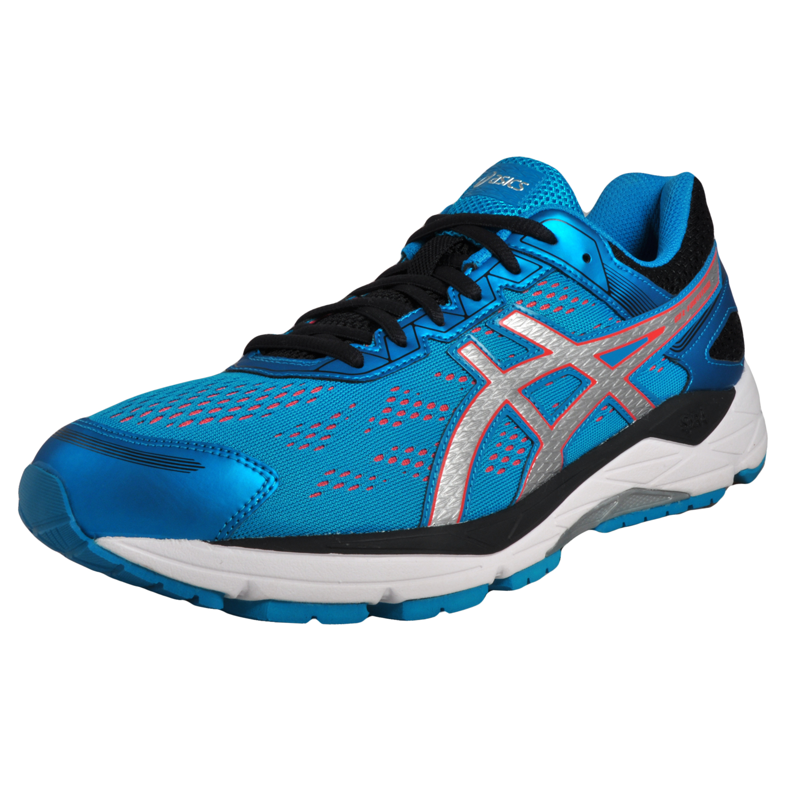 Asics Gel Fortitude 7 (2E) Wide Fit Mens Running Shoes Fitness Gym Trainers  Blue