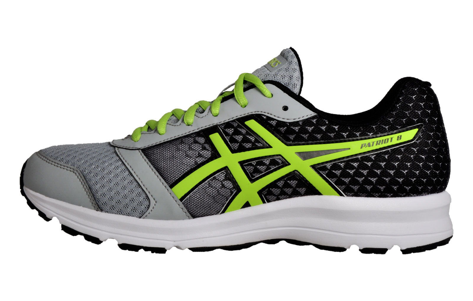 the best attitude 70b20 33851 Asics Patriot 8 Mens Running Shoes Fitness Gym Trainers Silver Grey Black