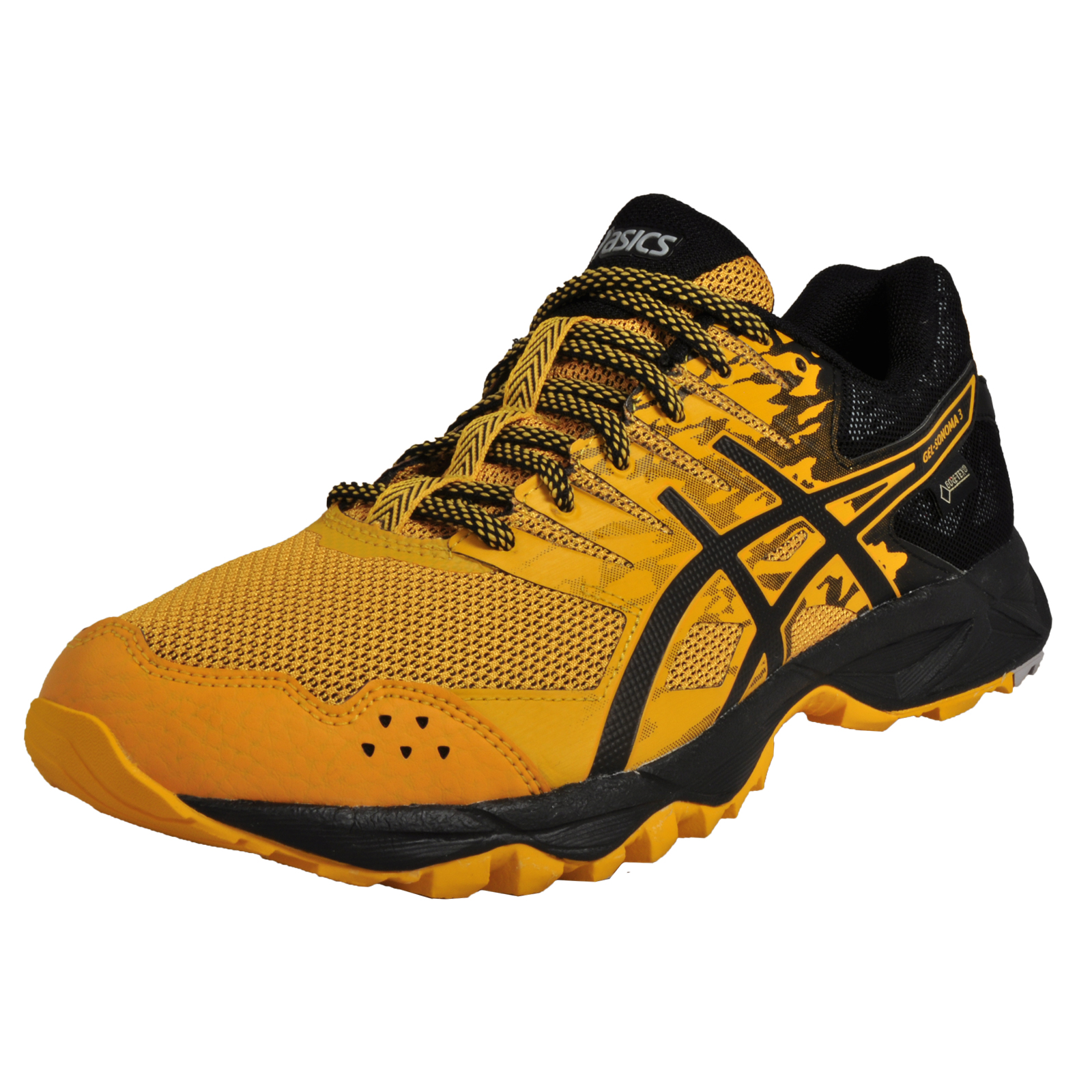 Asics Gel Sonoma 3 GT-X Gore-Tex Mens Waterproof All Terrain Trail Running  Shoes Gold