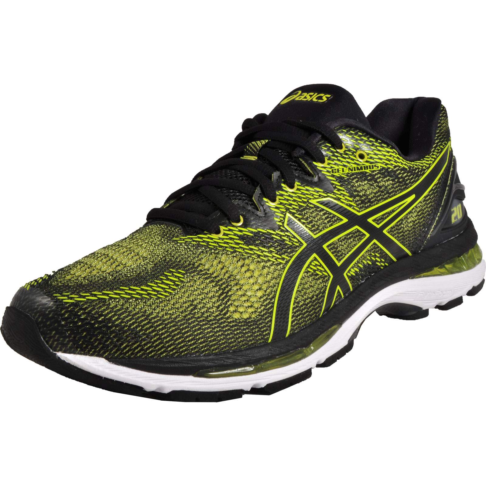 Asics Gel-Nimbus 20 Mens Premium Running Shoes Fitness Gym Trainers Green  Black