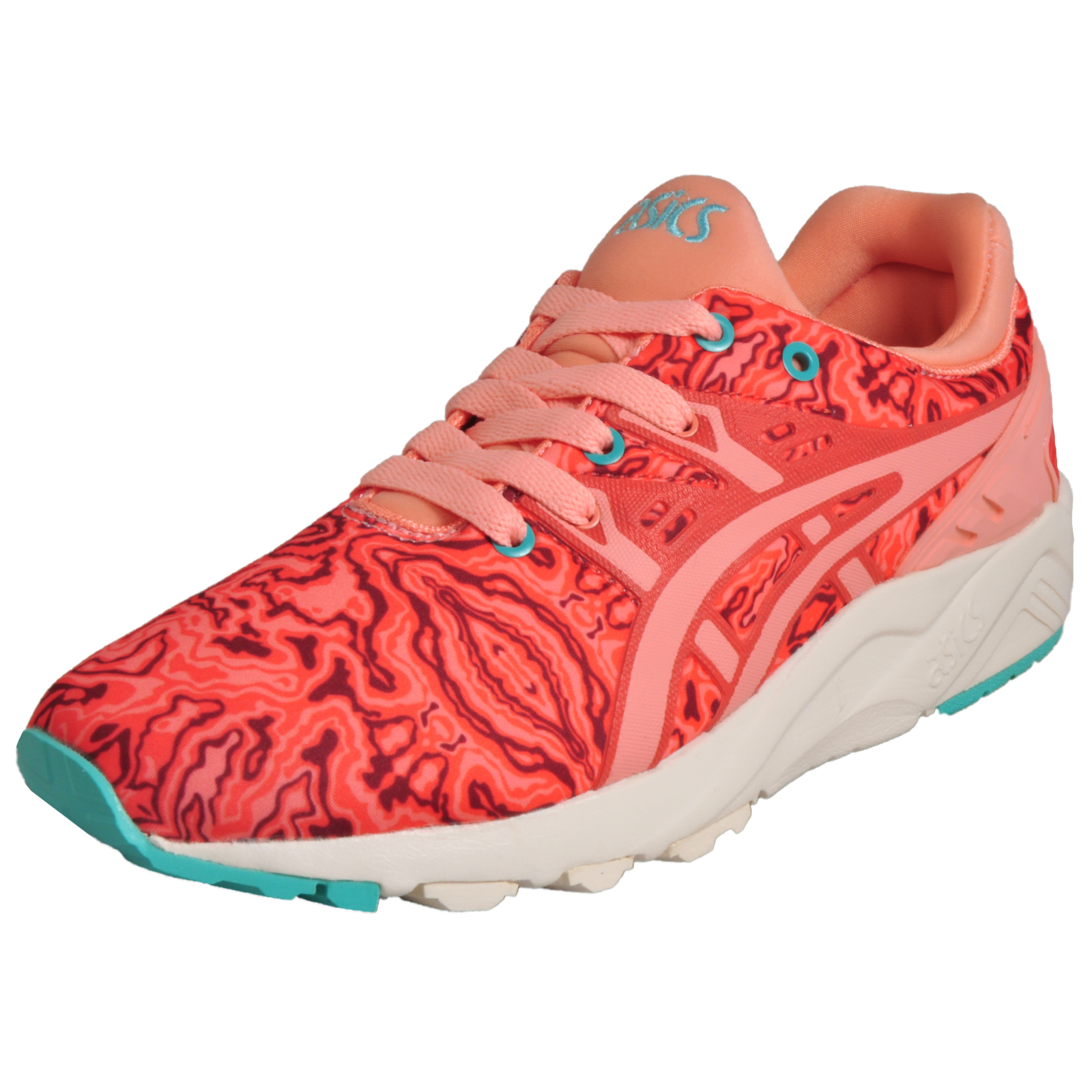 aa4165db660a Details about Asics Tiger Womens Gel Kayano Evo Retro Running Casual  Trainers Coral Pink
