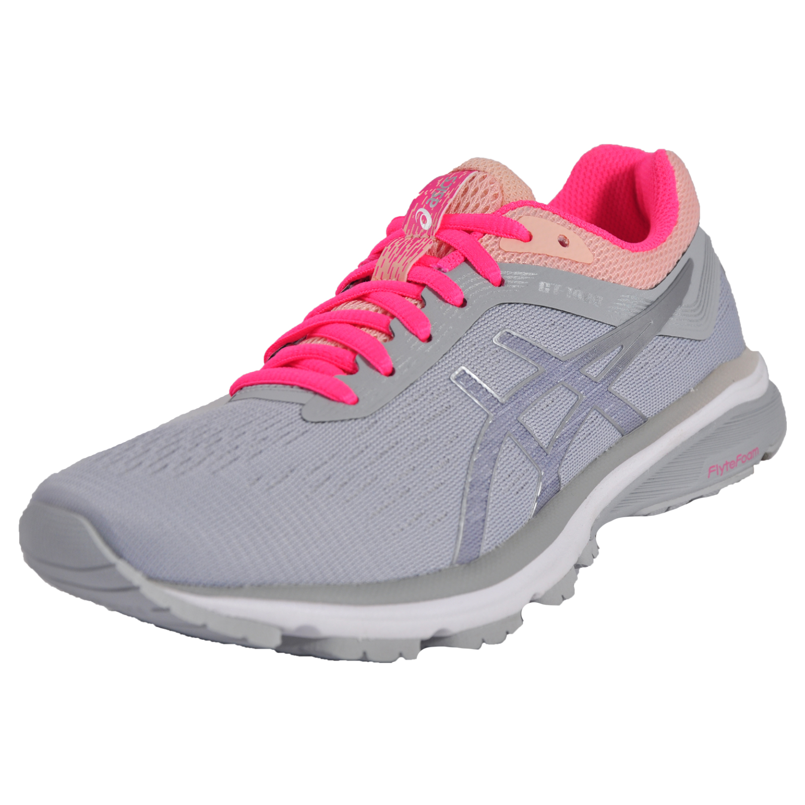 Asics GT 1000 5 GS Junior Girls Pink Support Running Shoes Trainers Pumps