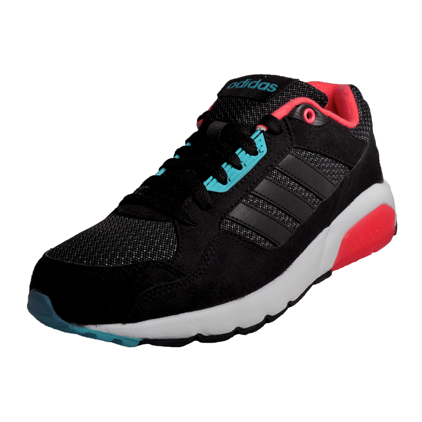 62986a819379 Details about Adidas Neo Run9tis Mens Classic Casual Retro Heritage Running  Trainers Black