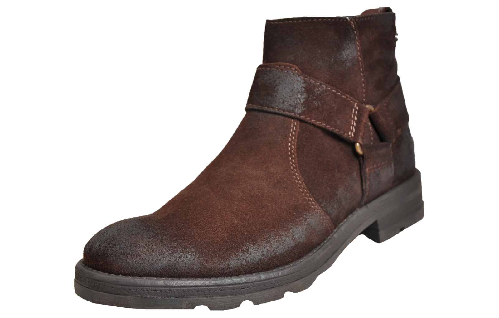 Base London Hornet Men/'s Suede Leather Ankle Biker Boots Brown