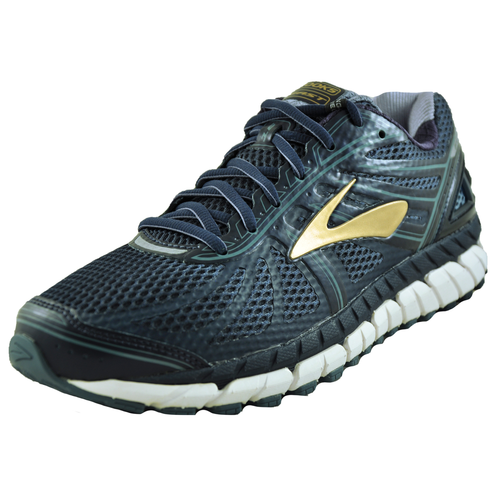 56bde0c627c Brooks Beast 16 Men s Premium Running Shoes Fitness Gym Trainers Navy UK 8  Only