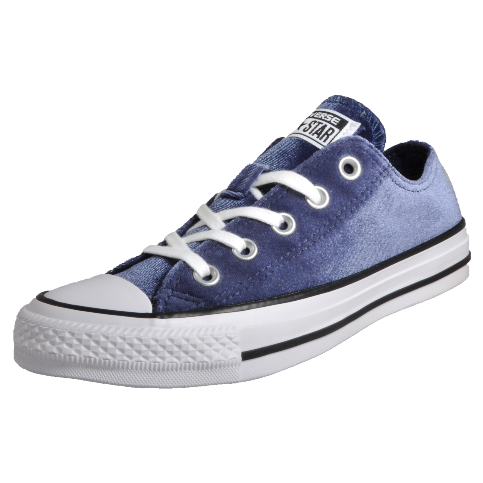 Converse Chuck Taylor All Star Velvet OX Women s Girls Casual Retro Fashion  Plimsol Trainers Navy 3ccf7c646