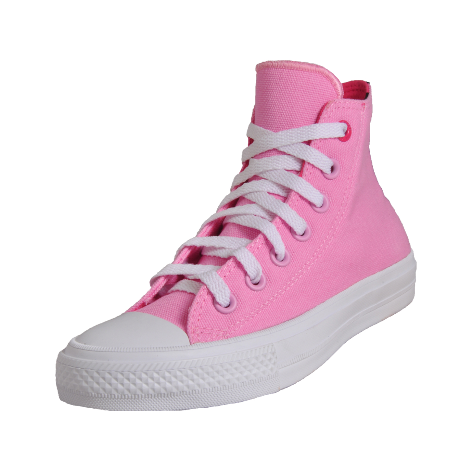 017cfeac342a99 Converse Chuck Taylor All Star Hi Women s Girls Classic Casual Plimsol Trainers  Pink