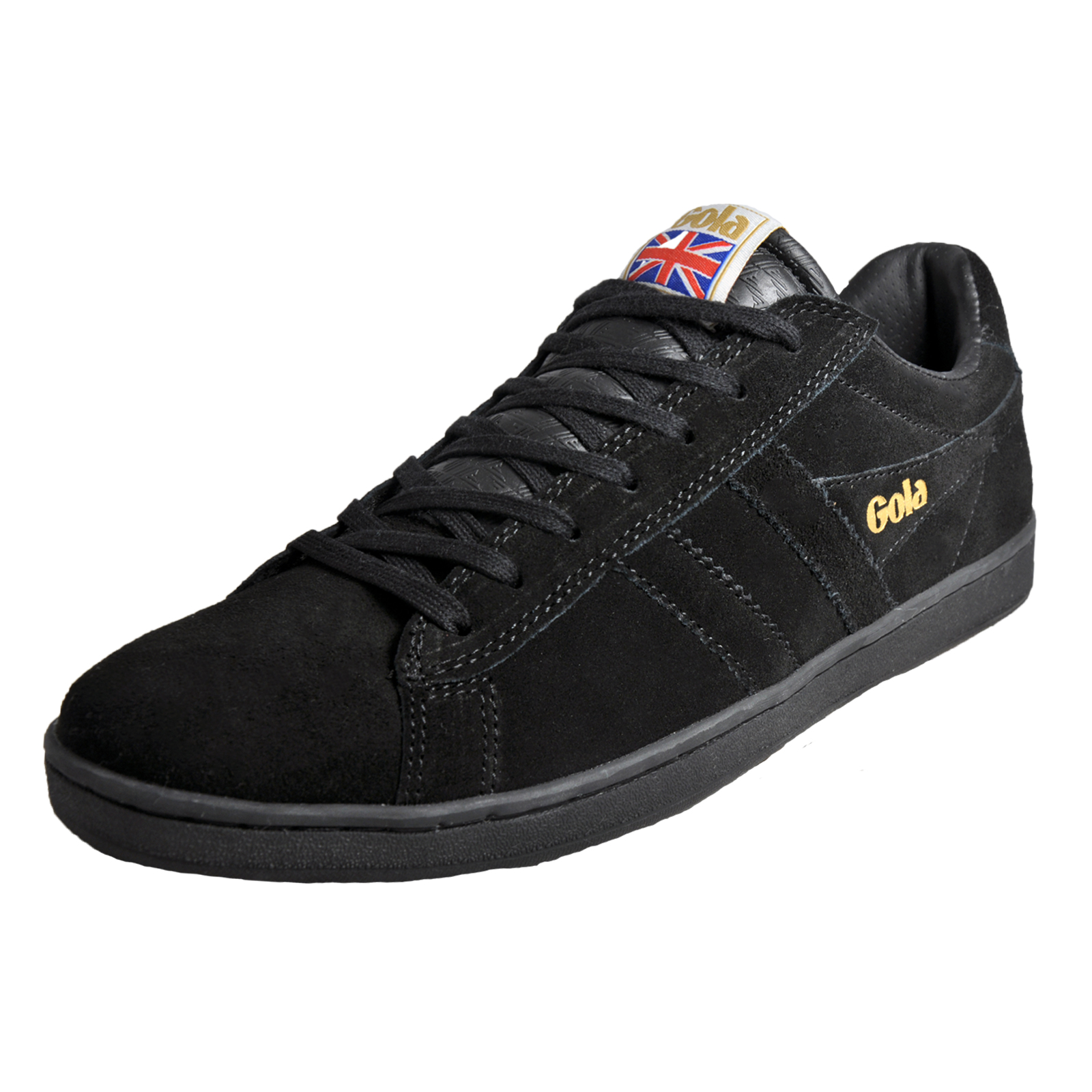 Gola Classics Equipe Suede Leather Mens Classic Casual Retro Trainers Black