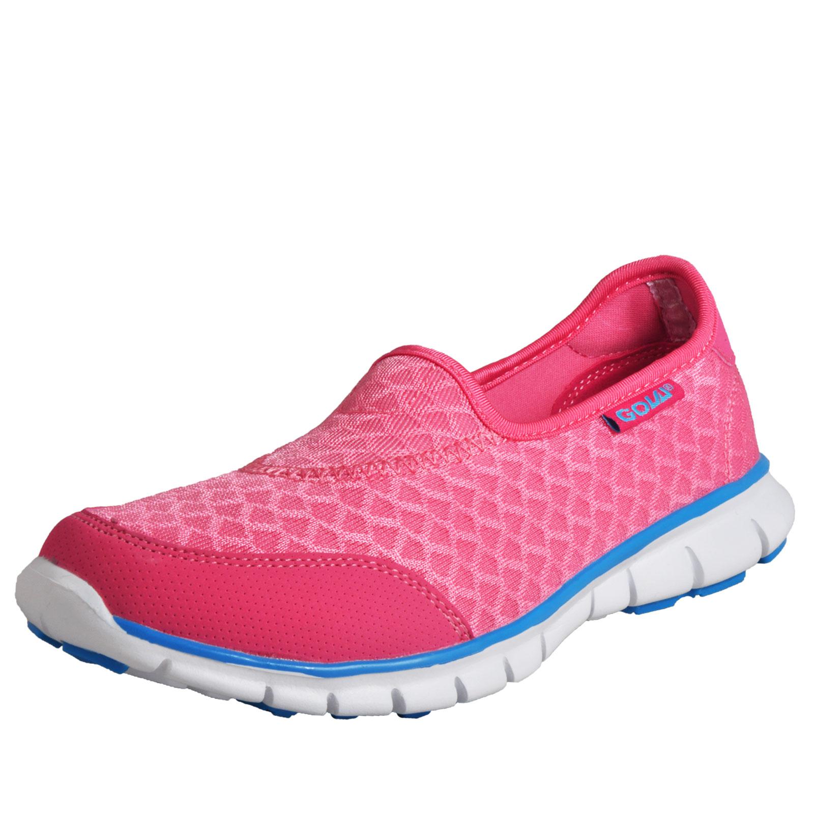 Details about Gola Mystic 2 Womens Classic Casual Slip On Memory Foam  Plimsoll Pumps Pink e8963ada4