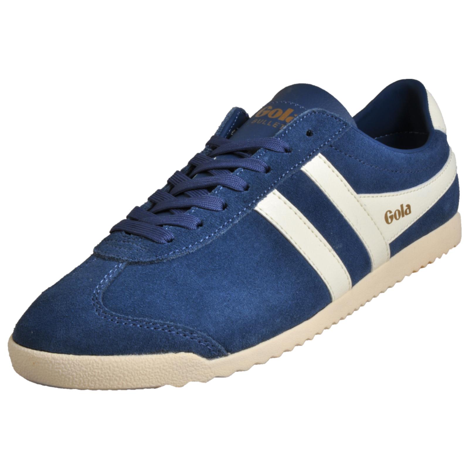Details about Gola Classics Bullet Suede Men s Casual Vintage Retro fashion  Trainers Blue 4e5c9050e