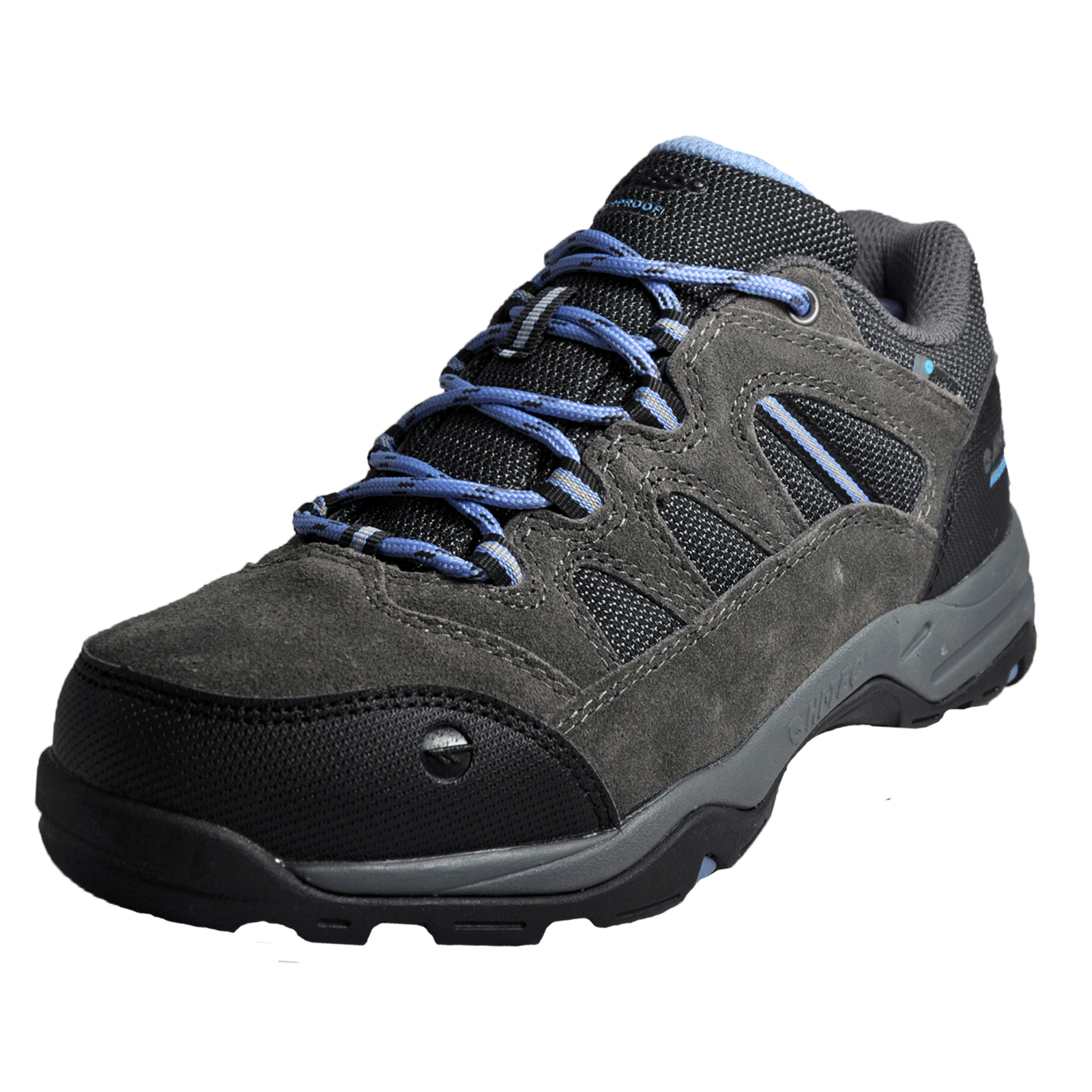 Hi Tec Bandera II WP Womens Waterproof All Terrain Hiking Shoes Charcoal