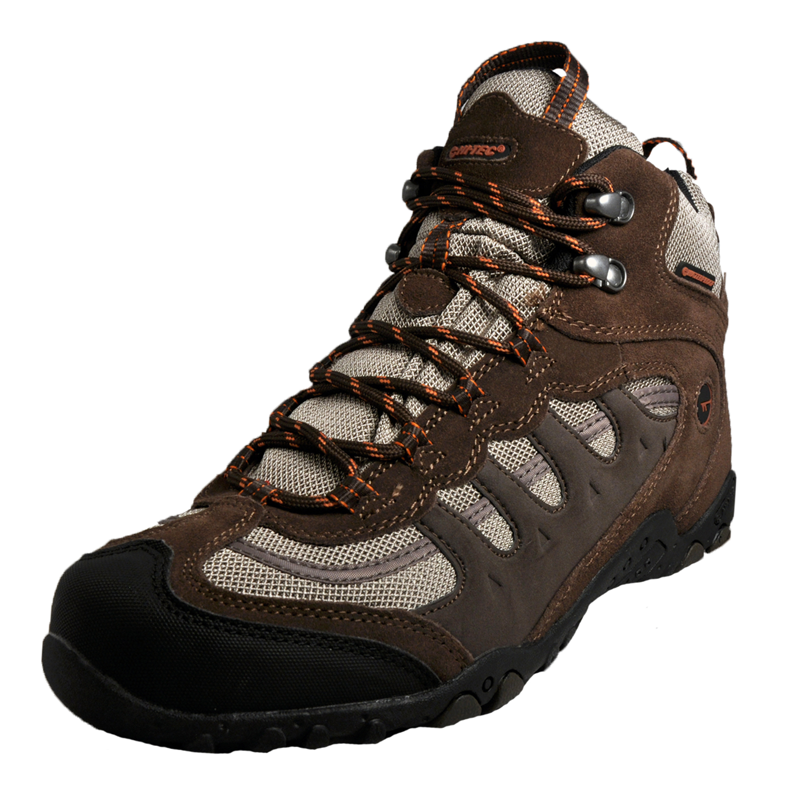 45d0d61653276 Details about Hi Tec Penrith Mid WP Mens Waterproof All Terrain Hiking  Boots Brown