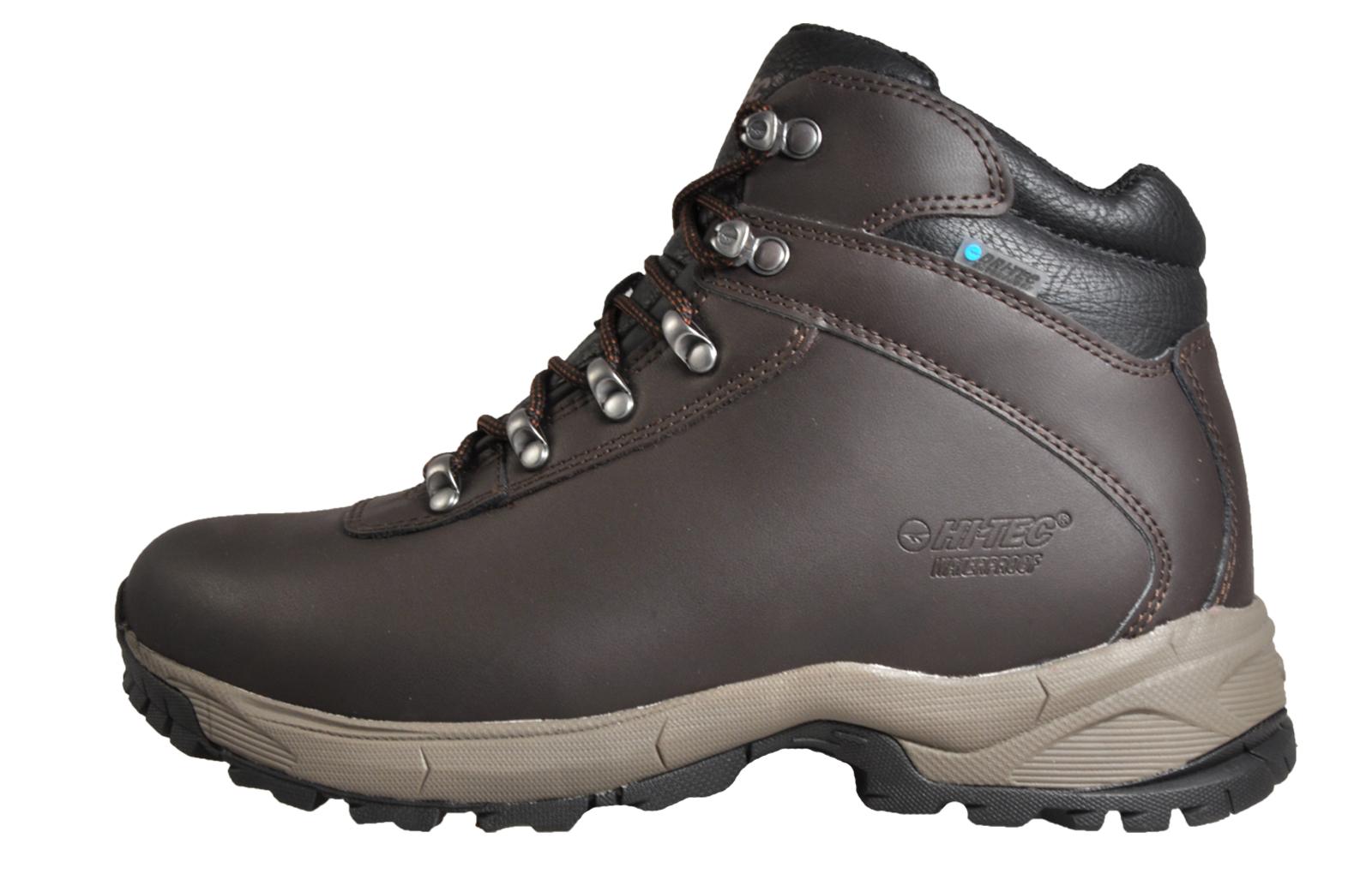 e5da87ae0b5 Details about Hi Tec Eurotrek Lite WP Men's Waterproof Walking Hiking Boots  Brown