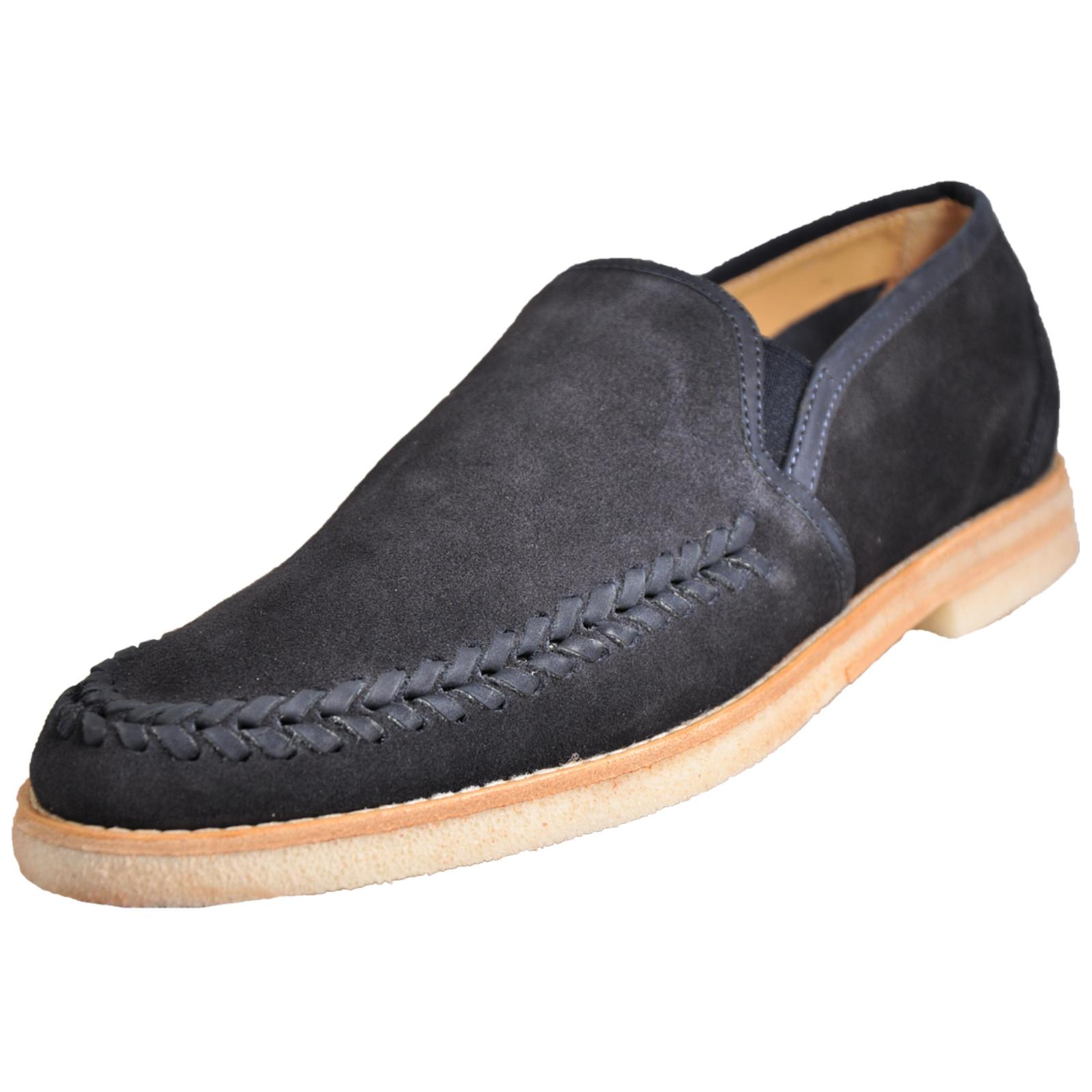 c483ec41b Details about H by Hudson Tangier Men s Formal Dress Fashion Slip on Loafer  Suede Leather Shoe