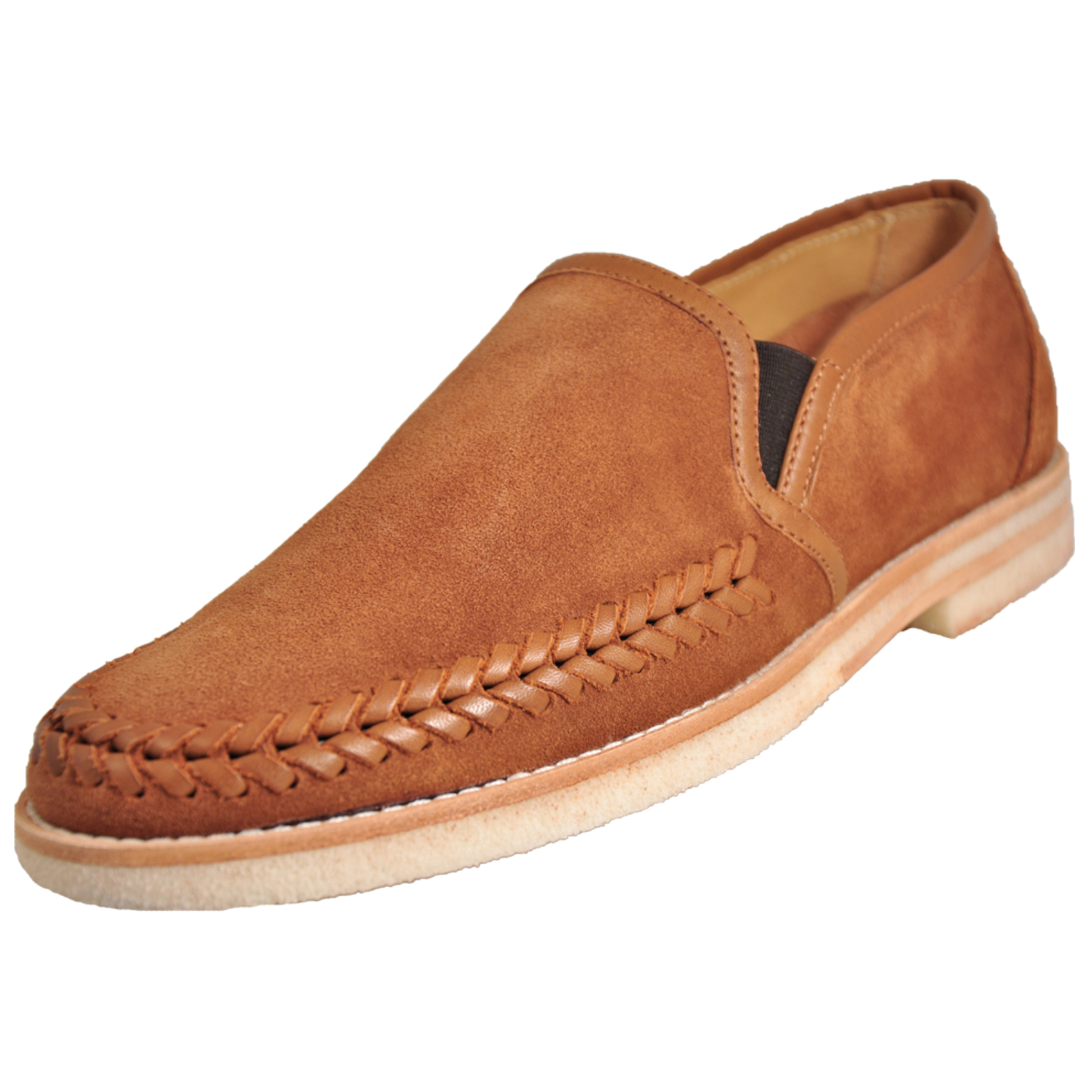 49a9cb850e9e4 H by Hudson Tangier Men's Formal Dress Slip On Loafer Suede Leather Shoes  Tan