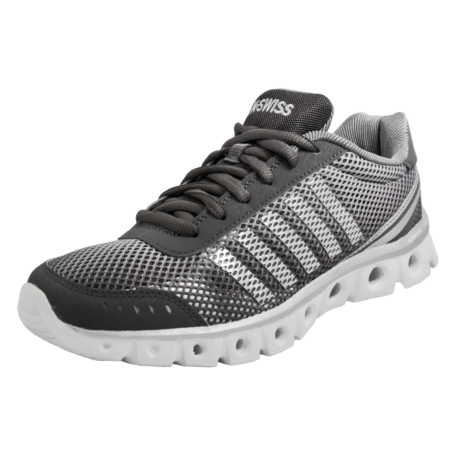 384052c8ac37 Details about K Swiss X Lite Athletic Cmf Men s Memory Foam Running Shoes  Fitness Trainers Gre