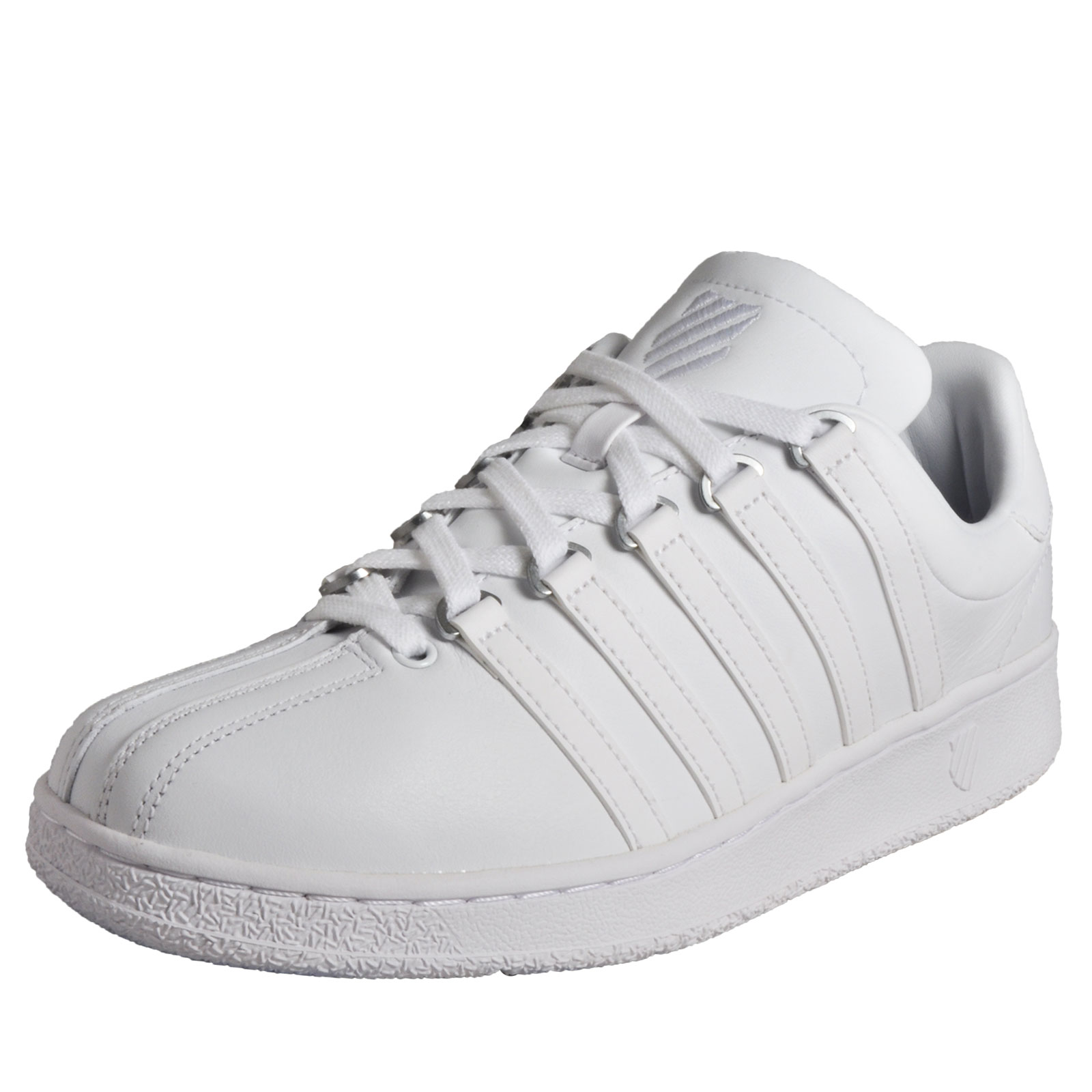a1b67f0b5fd7 Details about K Swiss Classic Vintage Men s Leather Casual Leather Retro  Trainers White