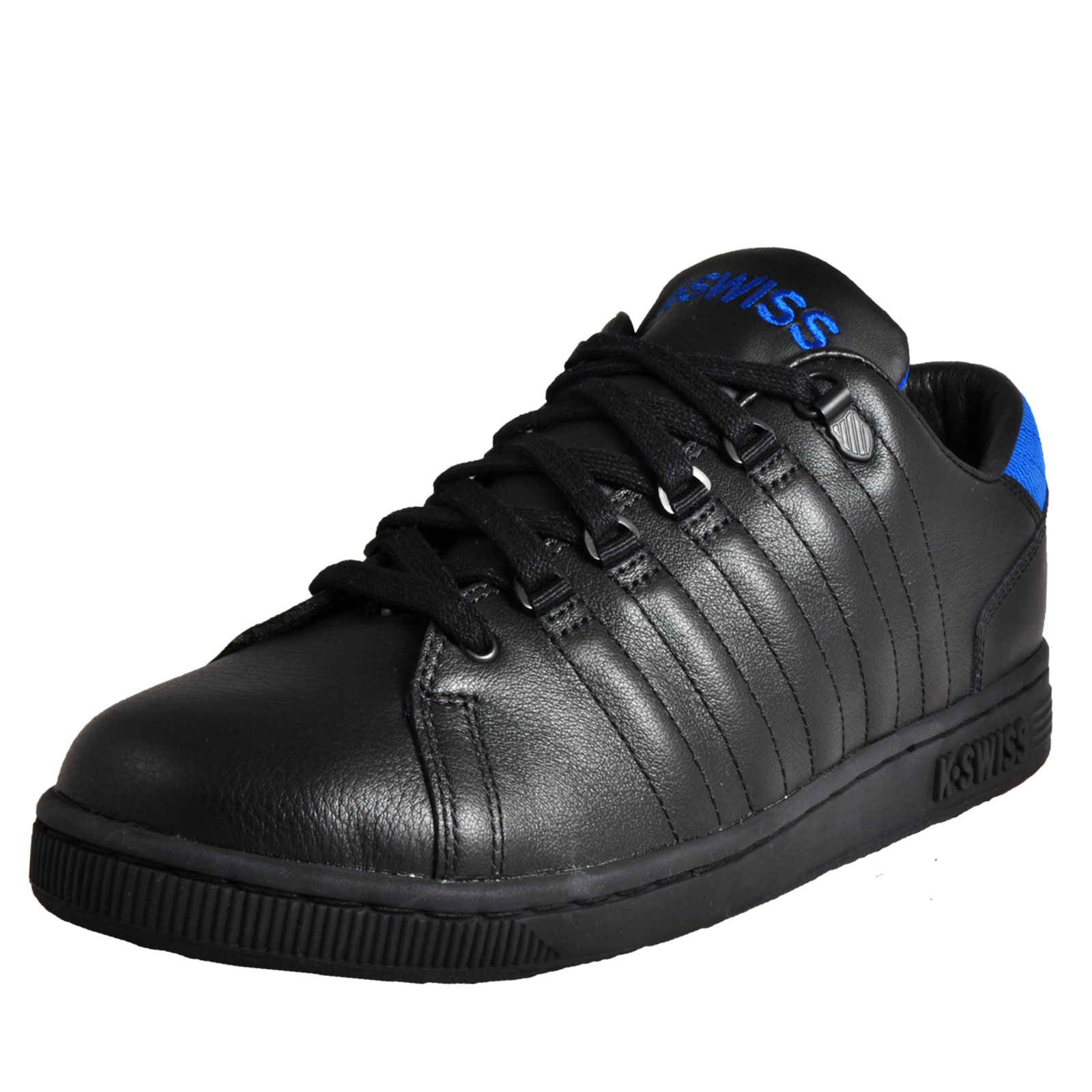 8d605fa699 Mens K Swiss Lozan III Tongue Twister Classic Casual Leather Black Trainers  Kleidung & Accessoires