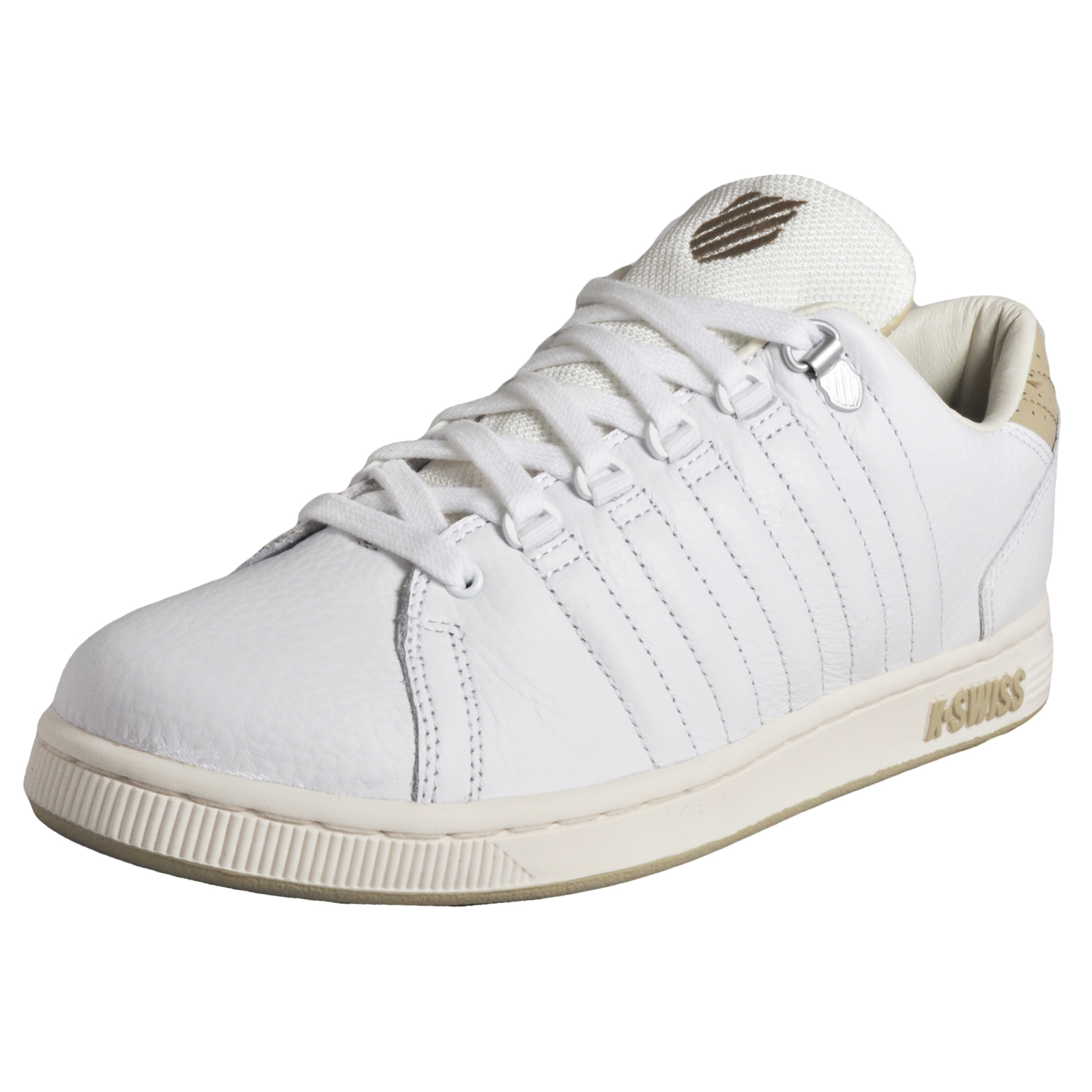 53fb0632da1 Details about K Swiss Lozan III Vintage Tongue Twister Men's Classic Casual  Leather Trainers W