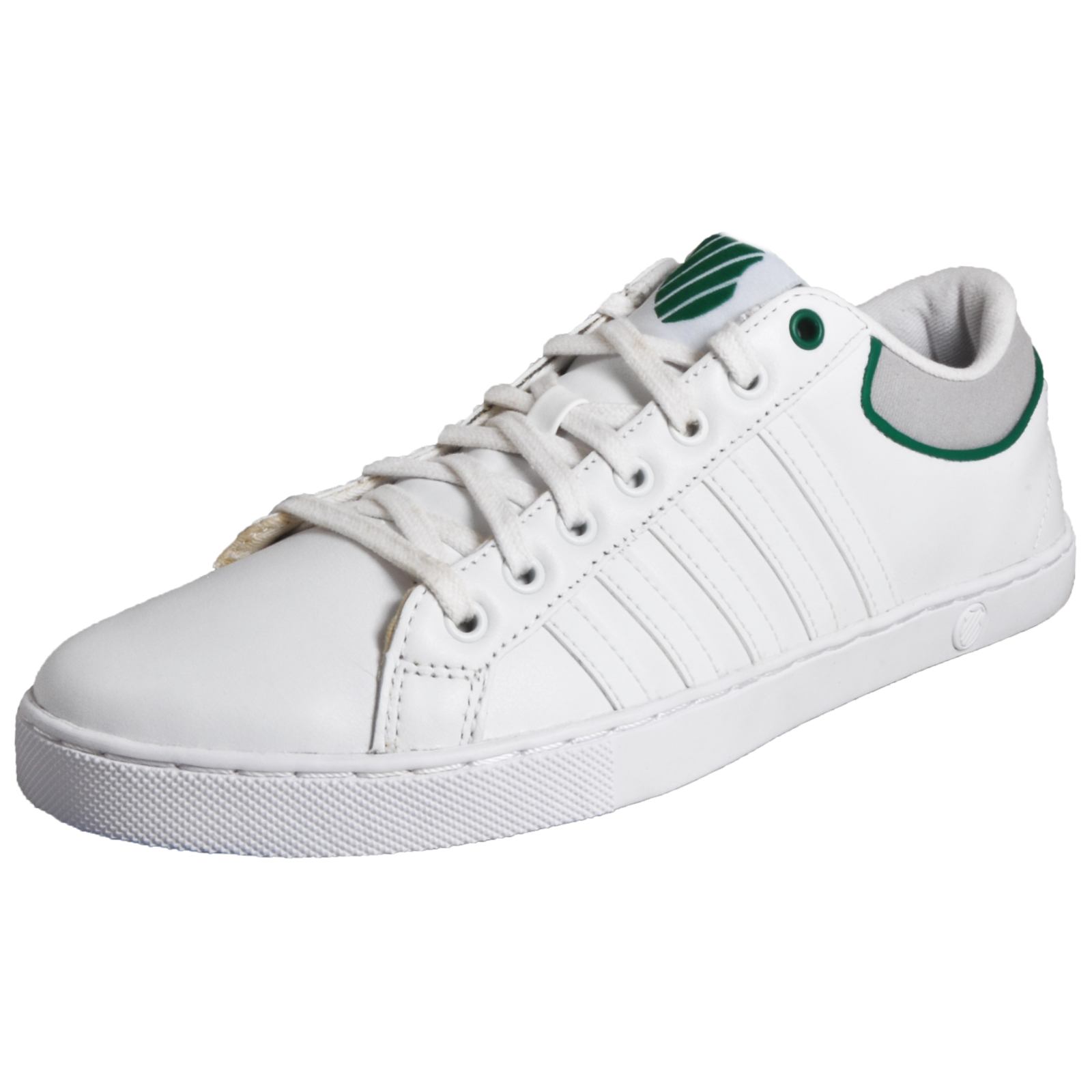 a6f6b8bda7c8 Details about K-Swiss Adcourt 72 Men s Causal Leather Retro Fashion Trainers  White