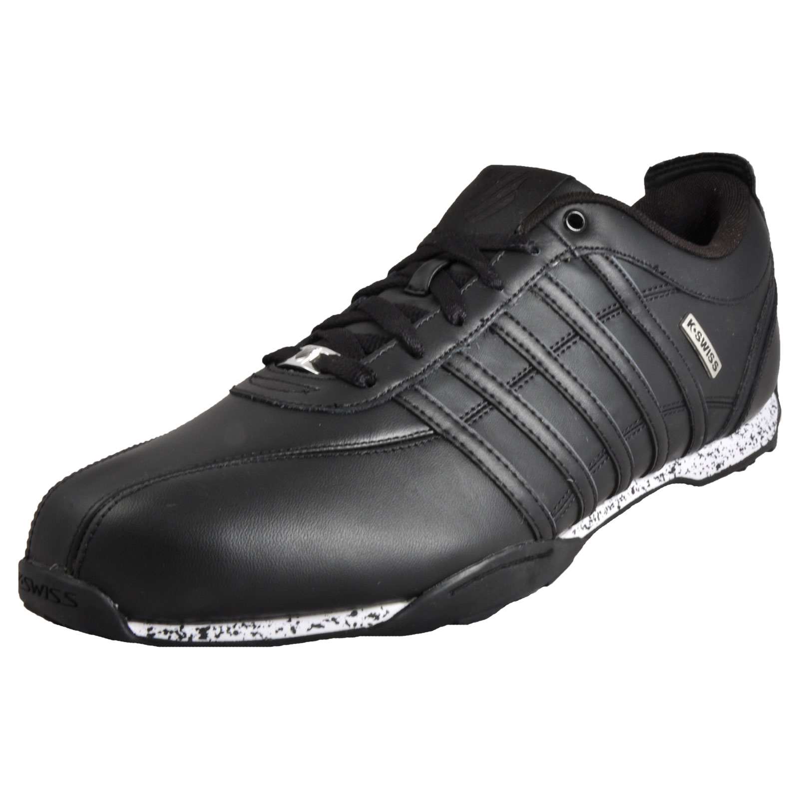 k swiss arvee 1 5 mens classic leather casual retro trainers black uk 13 only ebay. Black Bedroom Furniture Sets. Home Design Ideas