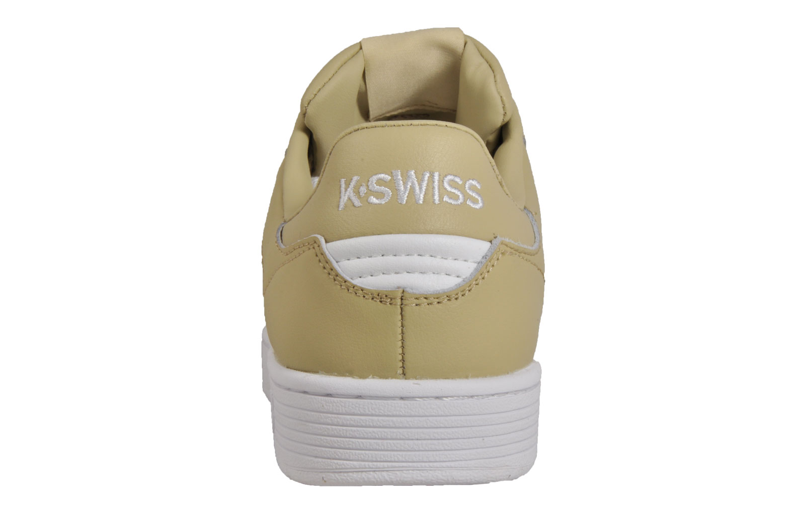 K-Swiss Clean Court Mens Classic Casual Memory Foam Retro Trainers Khaki 922b83648