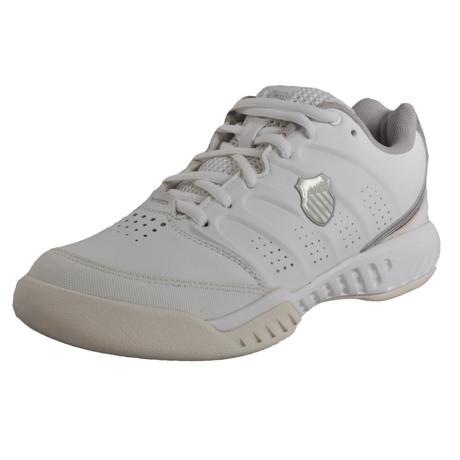 9303d8c84a2a Details about K Swiss Ultrascendor II Mens Court Fitness Gym Leather  Trainers White UK 9 Only