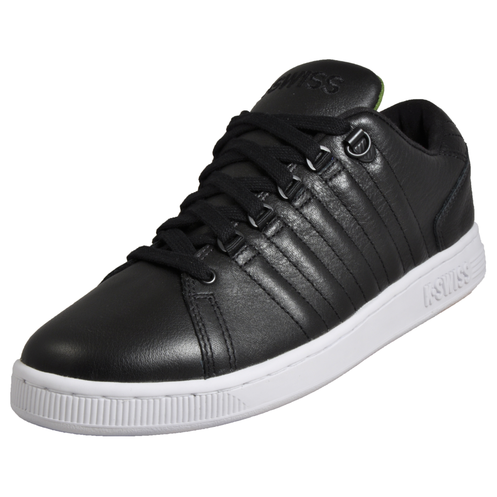 7fa01a9a7d1 Details about K Swiss Lozan III TT Tongue Twister Men s Classic Casual  Leather Trainers Black