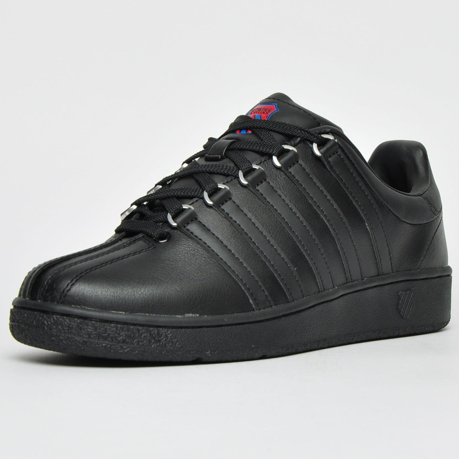 K Swiss Classic Vintage Heritage Men s Leather Casual Classic Retro Trainers  Black 58beaa1c8