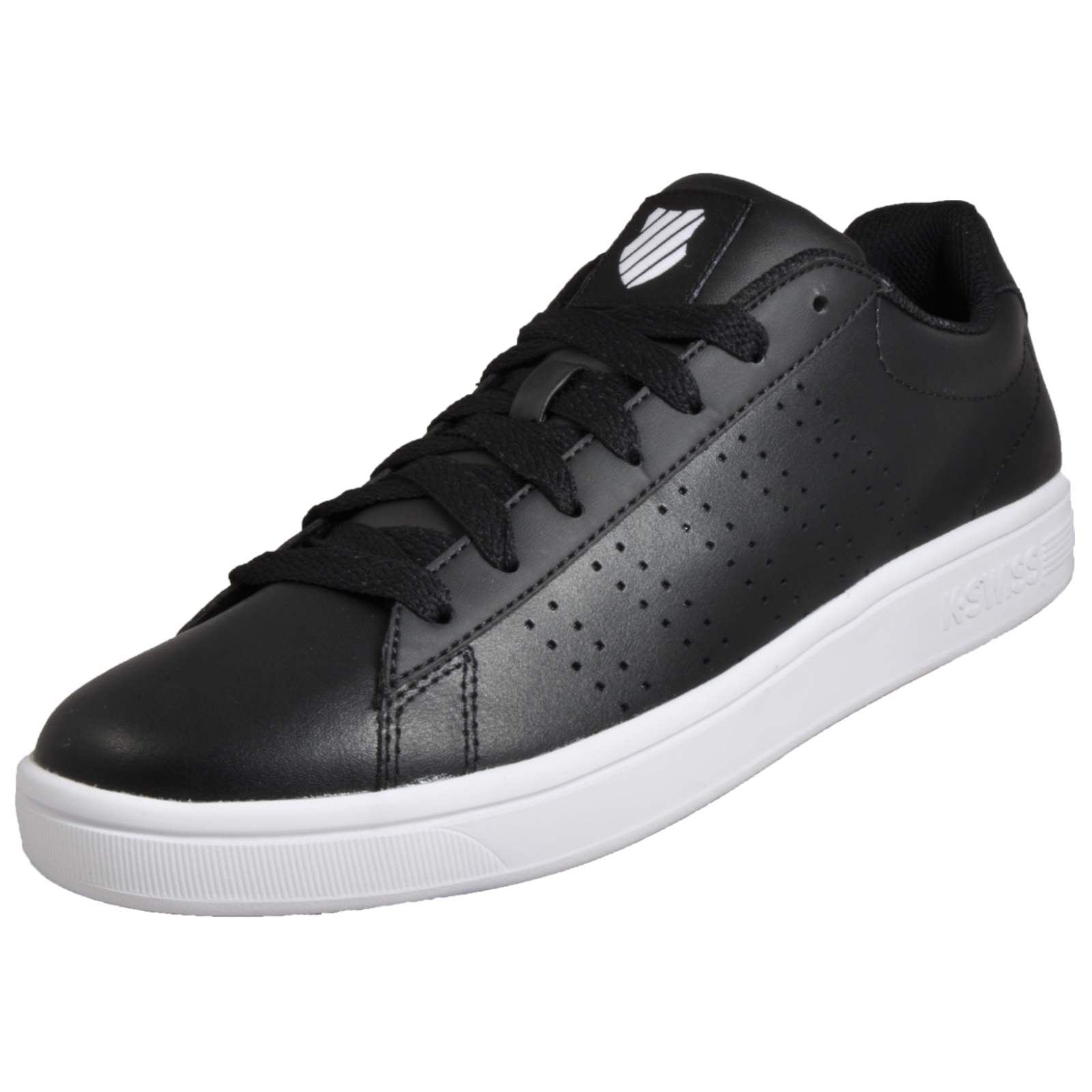 f6416ba4654bab K Swiss Court Casper Men s Classic Casual Retro Lifestyle Trainers Black