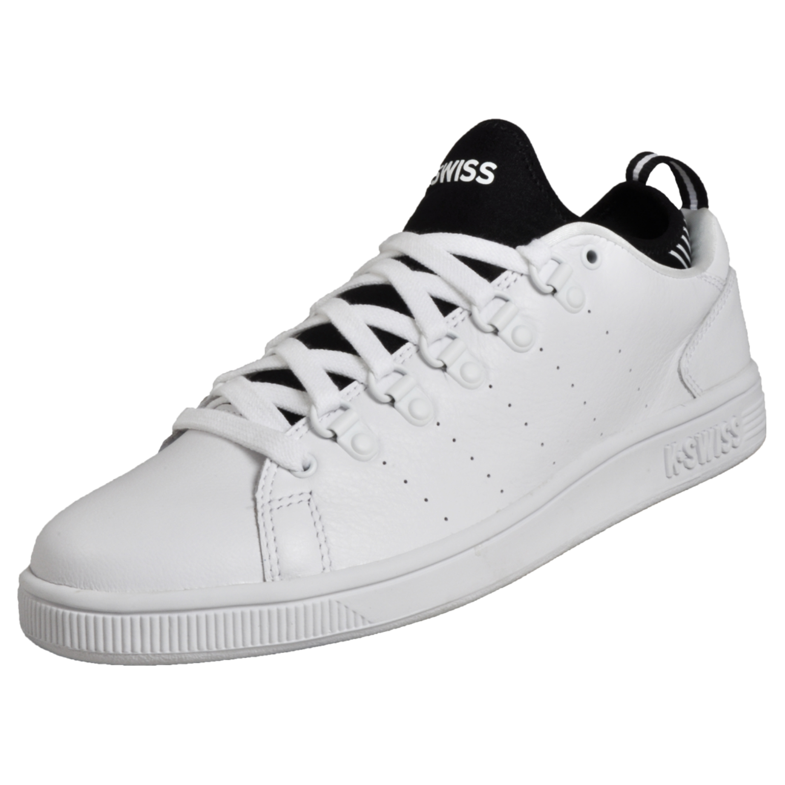 7c8e7b88399cf6 Details about K Swiss Lozan Sport Men s Classic Casual Leather Fashion  Trainers Sneakers White