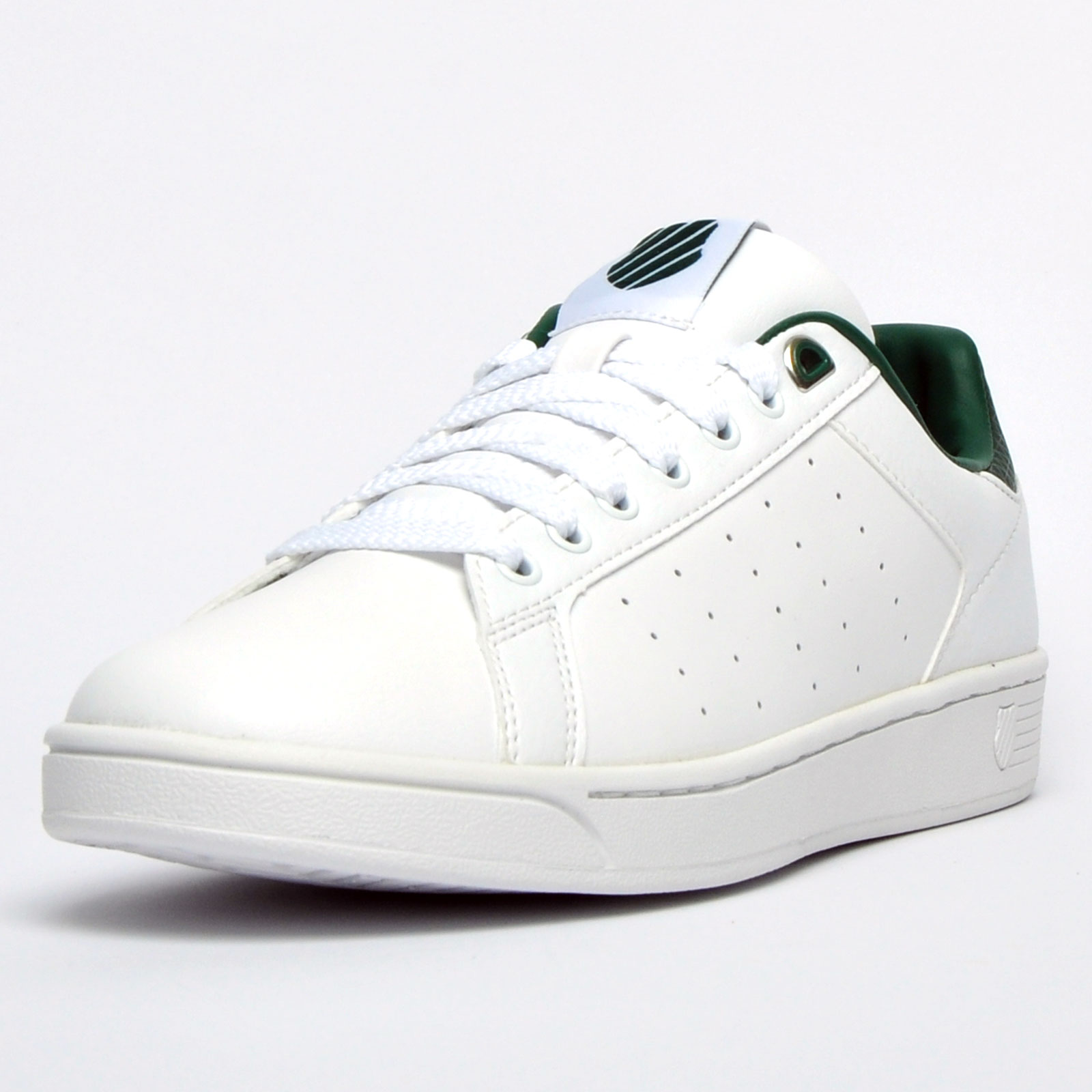 Details about K Swiss Clean Court Men s Classic Casual Memory Foam Retro  Trainers White a35625dff