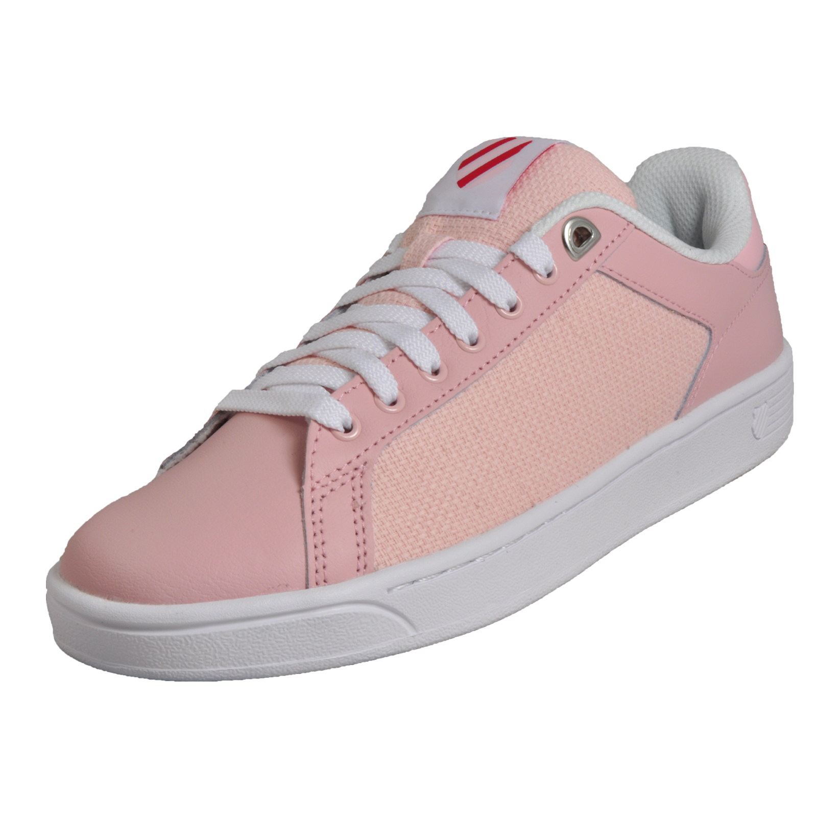 K Swiss Clean Court CMF Women s Girls Classic Memory Foam Trainers Pink 0fe7e1877