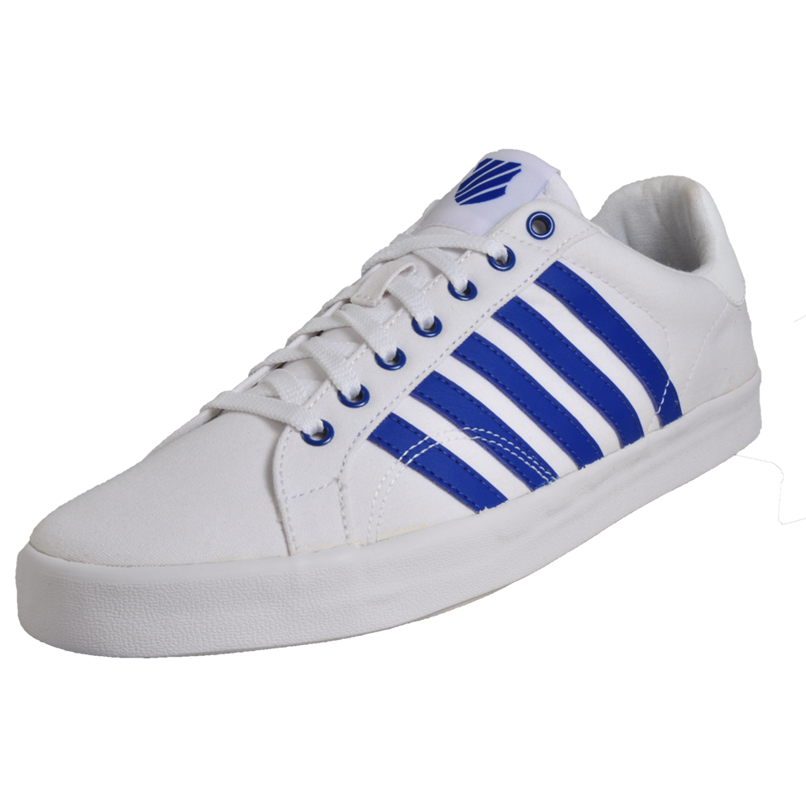 Details about K Swiss Belmont Men s Classic Vintage Retro Trainers Canvas  Sneakers White 3bd20ffe5