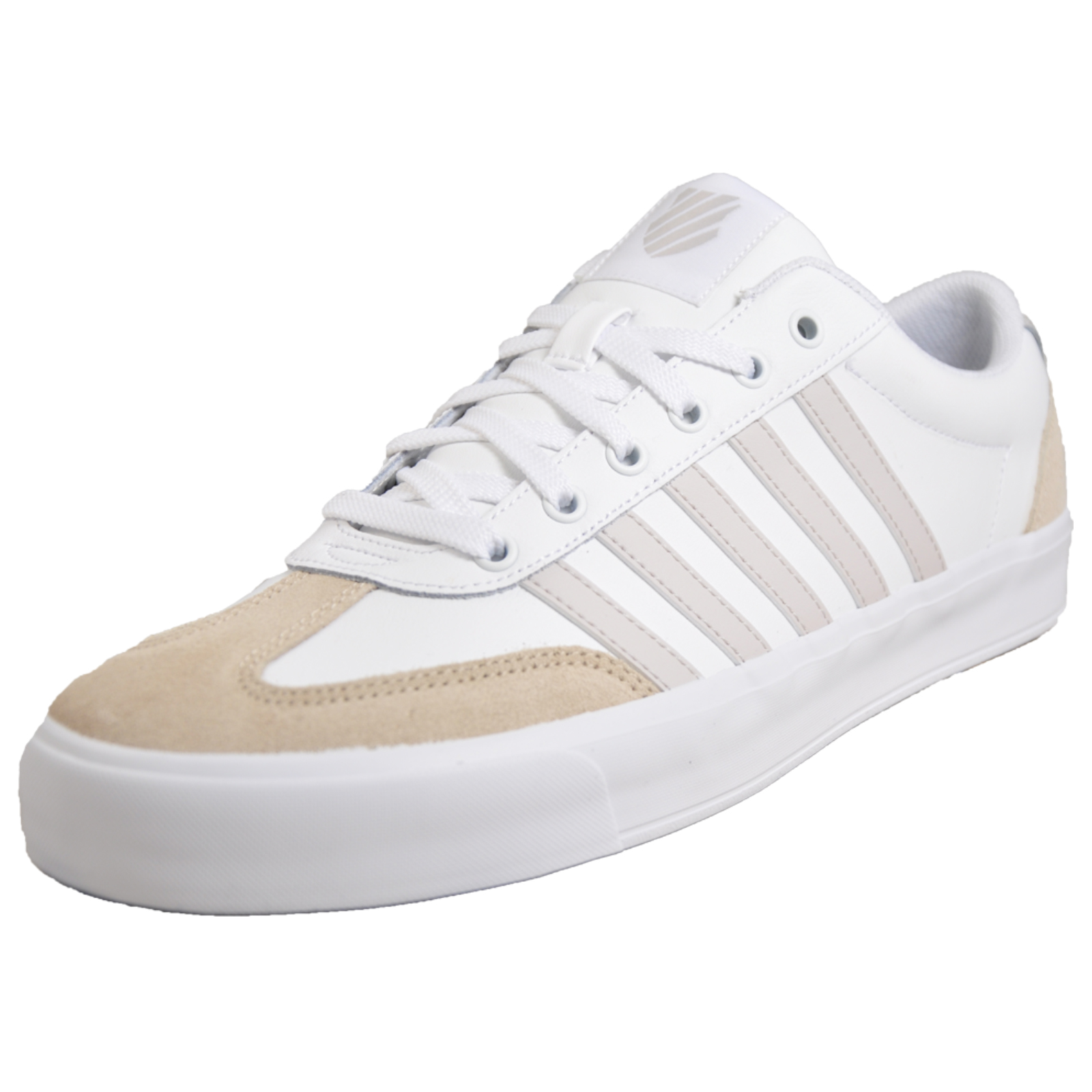 cdca460bd131f K Swiss Addison Vulc Men s Leather Court Fashion Trainers White