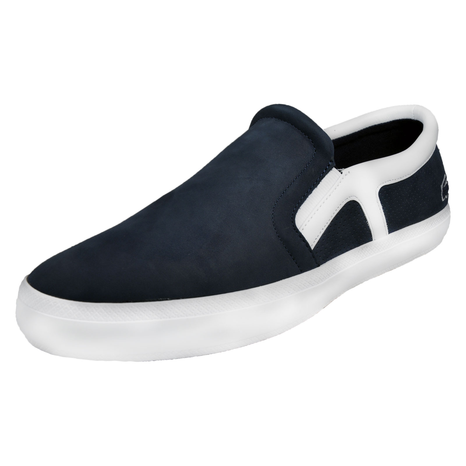 0db5f9a97819 Details about Lacoste Rene Chunky 116 Mens Designer Slip On Deck Shoes Navy
